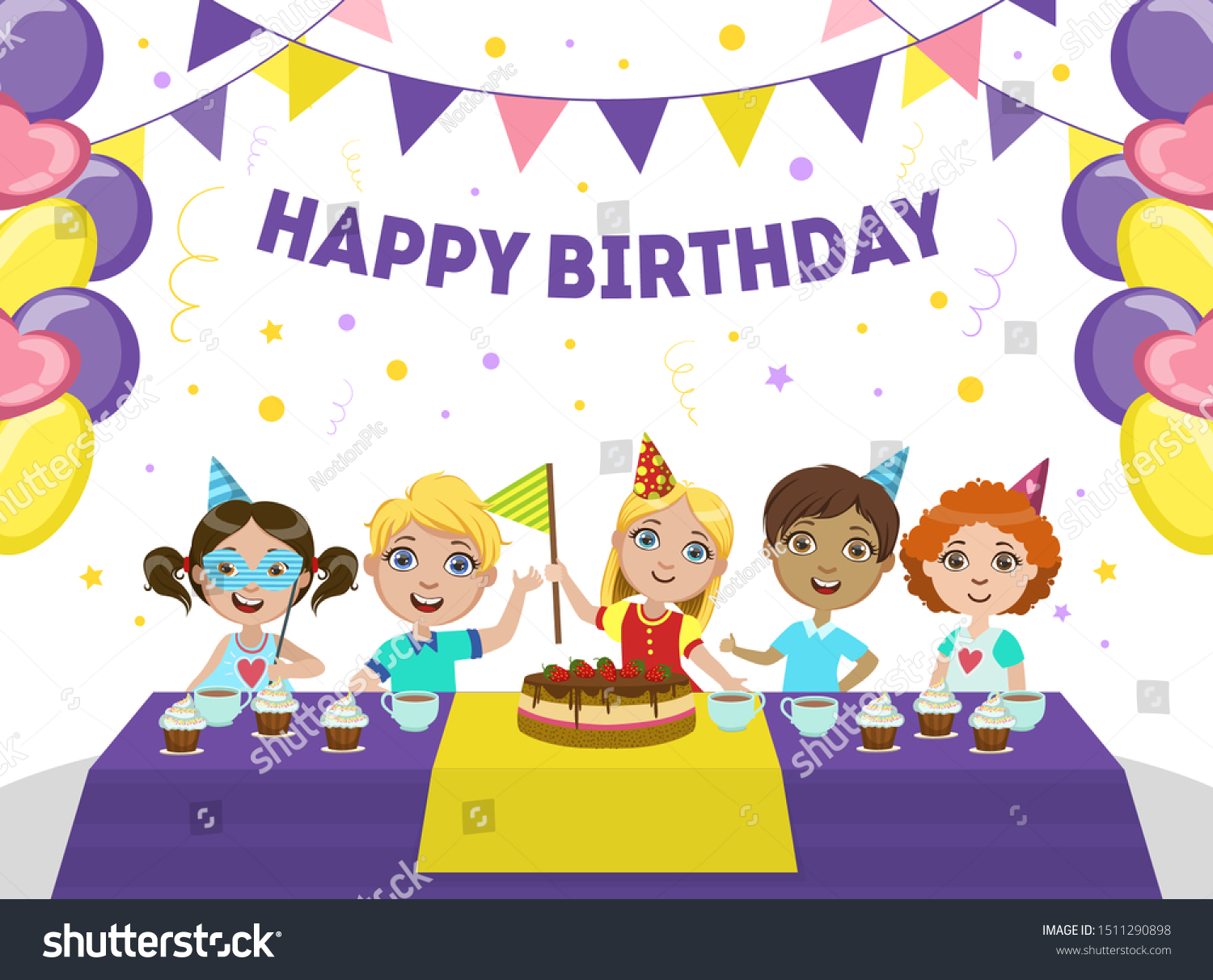 Happy Birthday Banner Template from image.shutterstock.com