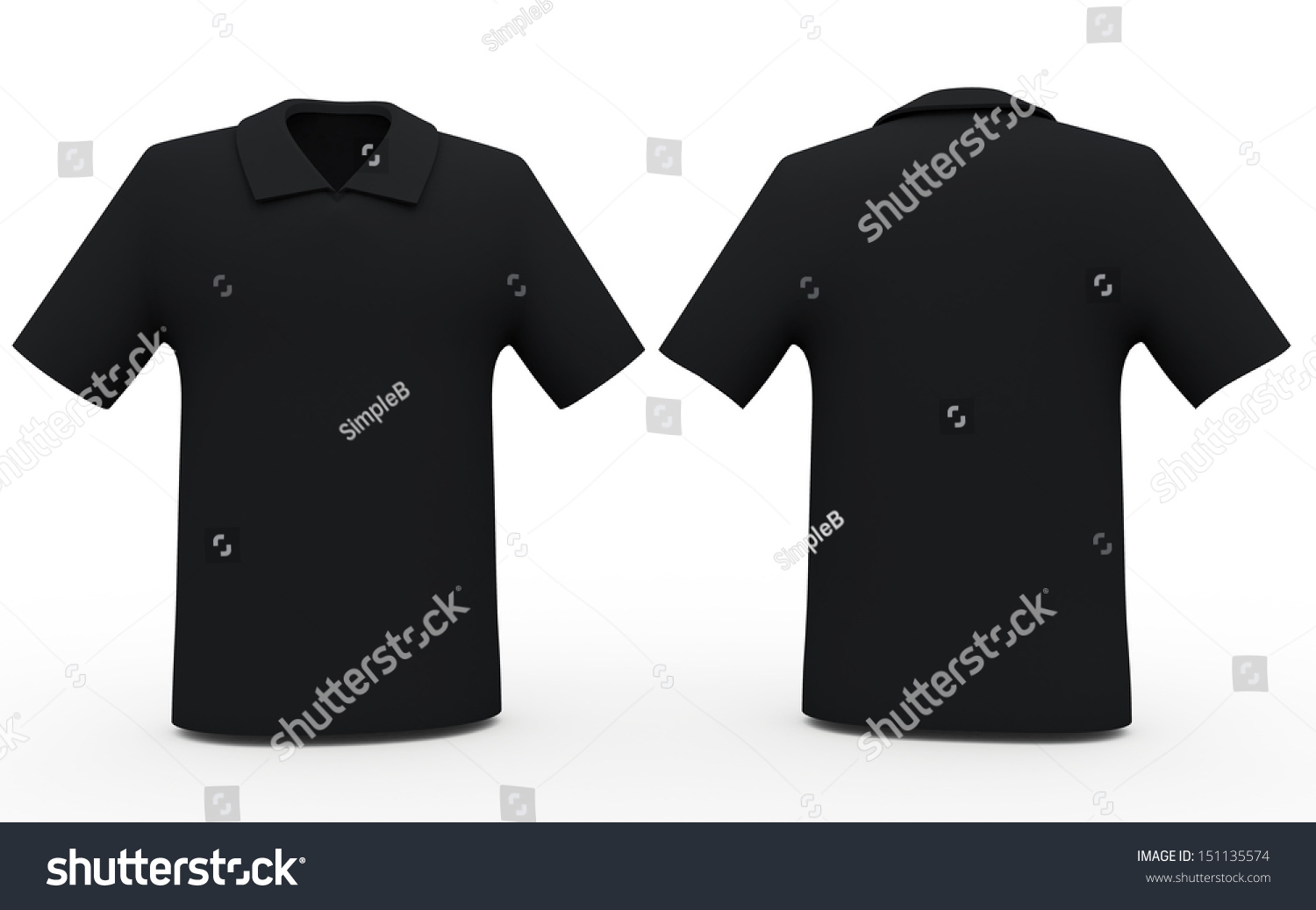 Black t shirt back and front - 3d Black Color Sport Shirts Front And Back Sides Blank Template In Isolated Background Clipping Paths
