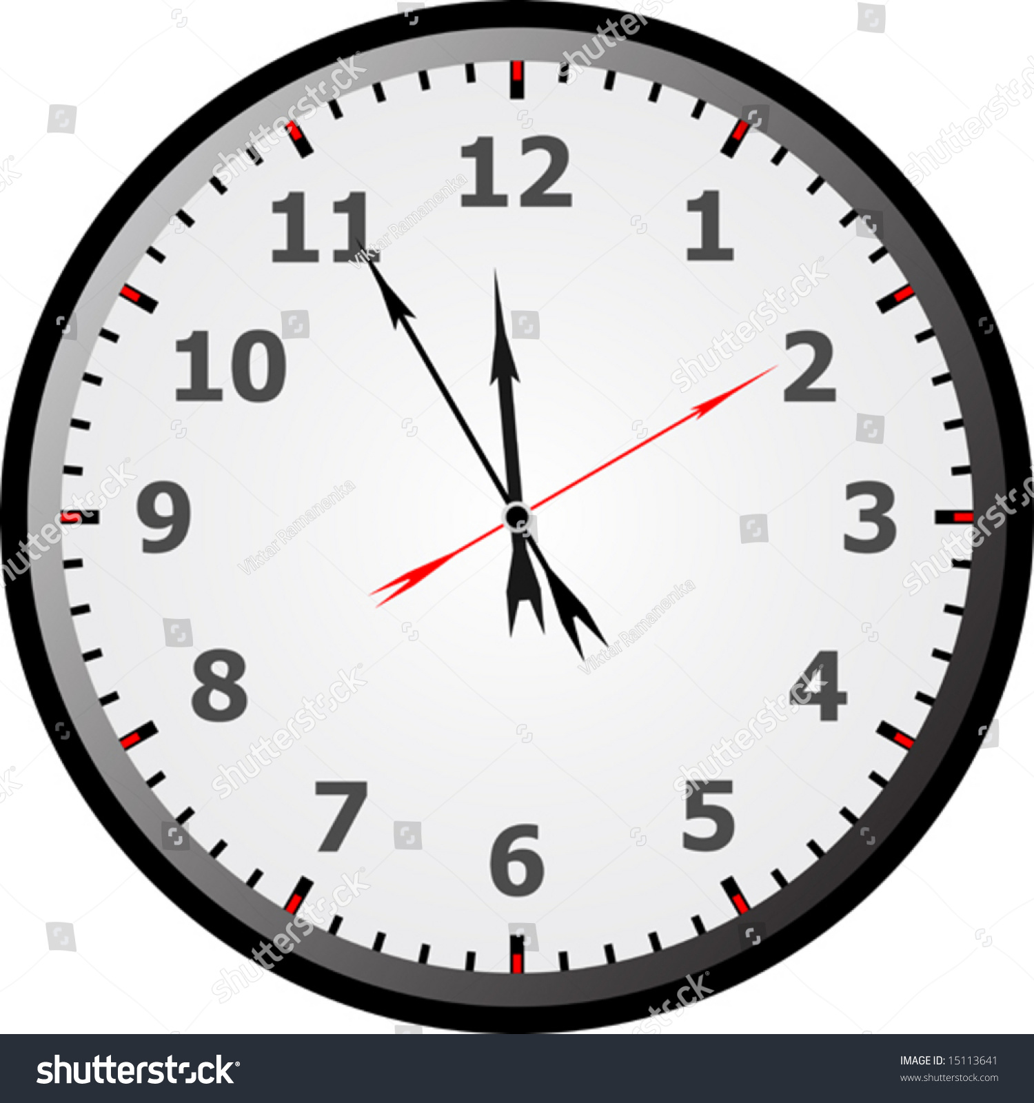worksheet Printable Clock Face With Minutes clock face with minutes tape measurement test reading about five stock vector 15113641 five
