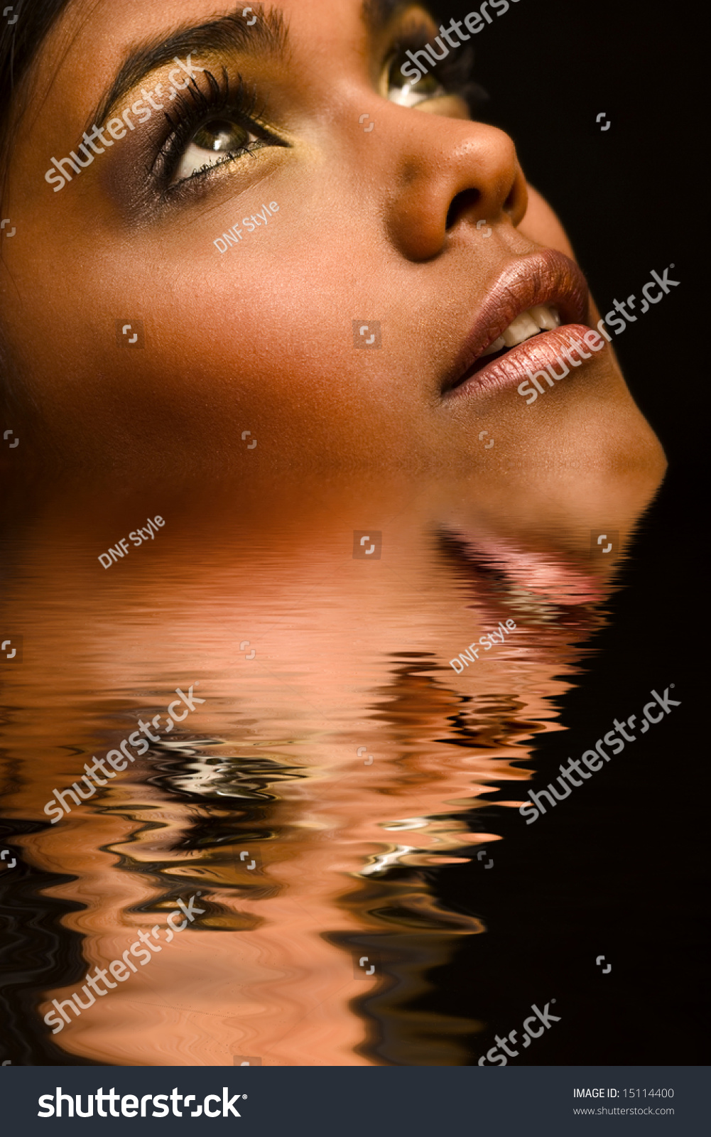 Studio Portrait Of An Indian Indonesian Beauty Model ...