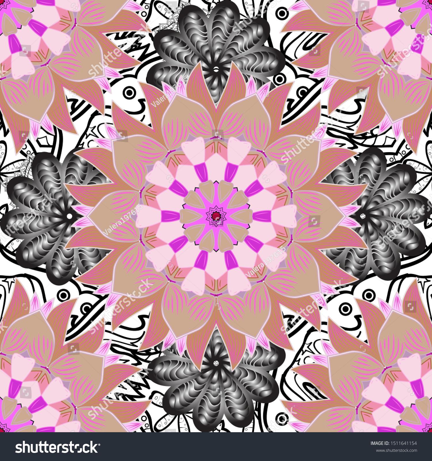 Modern Floral Background Elegant Template Fashion Stock Vector