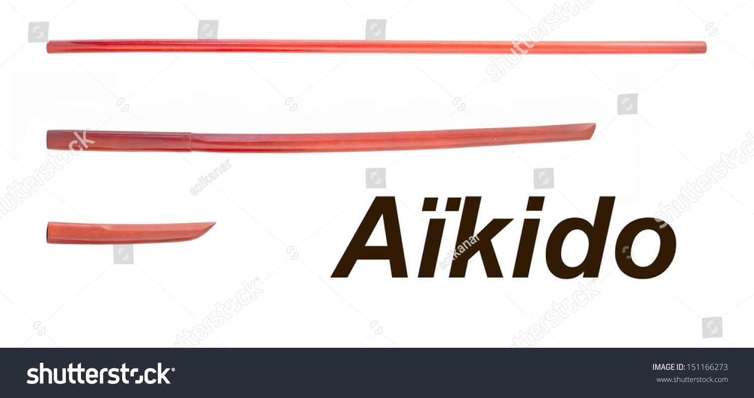 Aikido wooden weapons