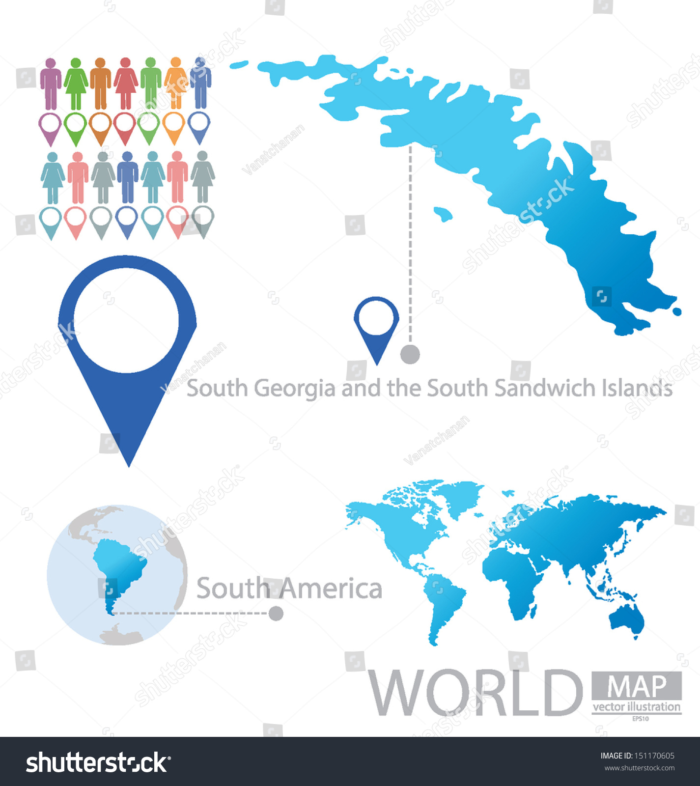 South georgia south sandwich islands south vectores en stock south georgia and the south sandwich islands south america world map vector illustration gumiabroncs Image collections