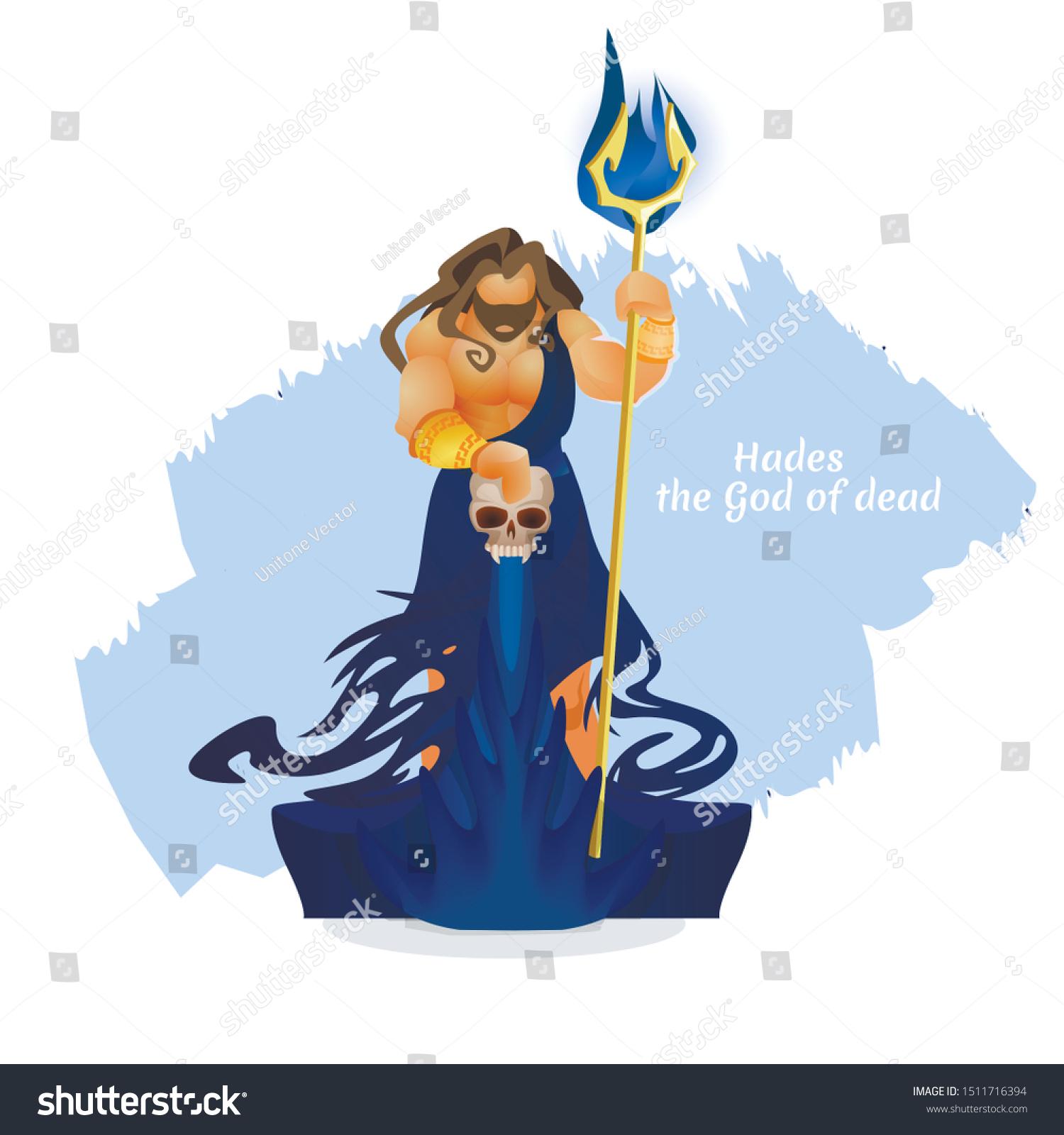 Hades Pluto Aidis God Dead Character Stock Vector Royalty Free 1511716394