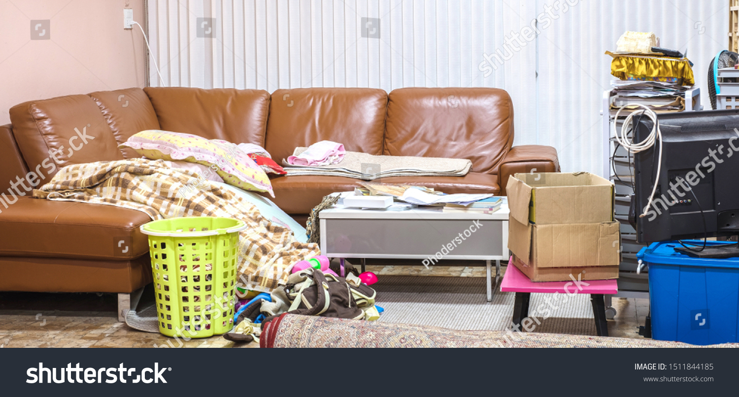 Messy Home Living Room Cloth Book Stock Photo Edit Now 1511844185