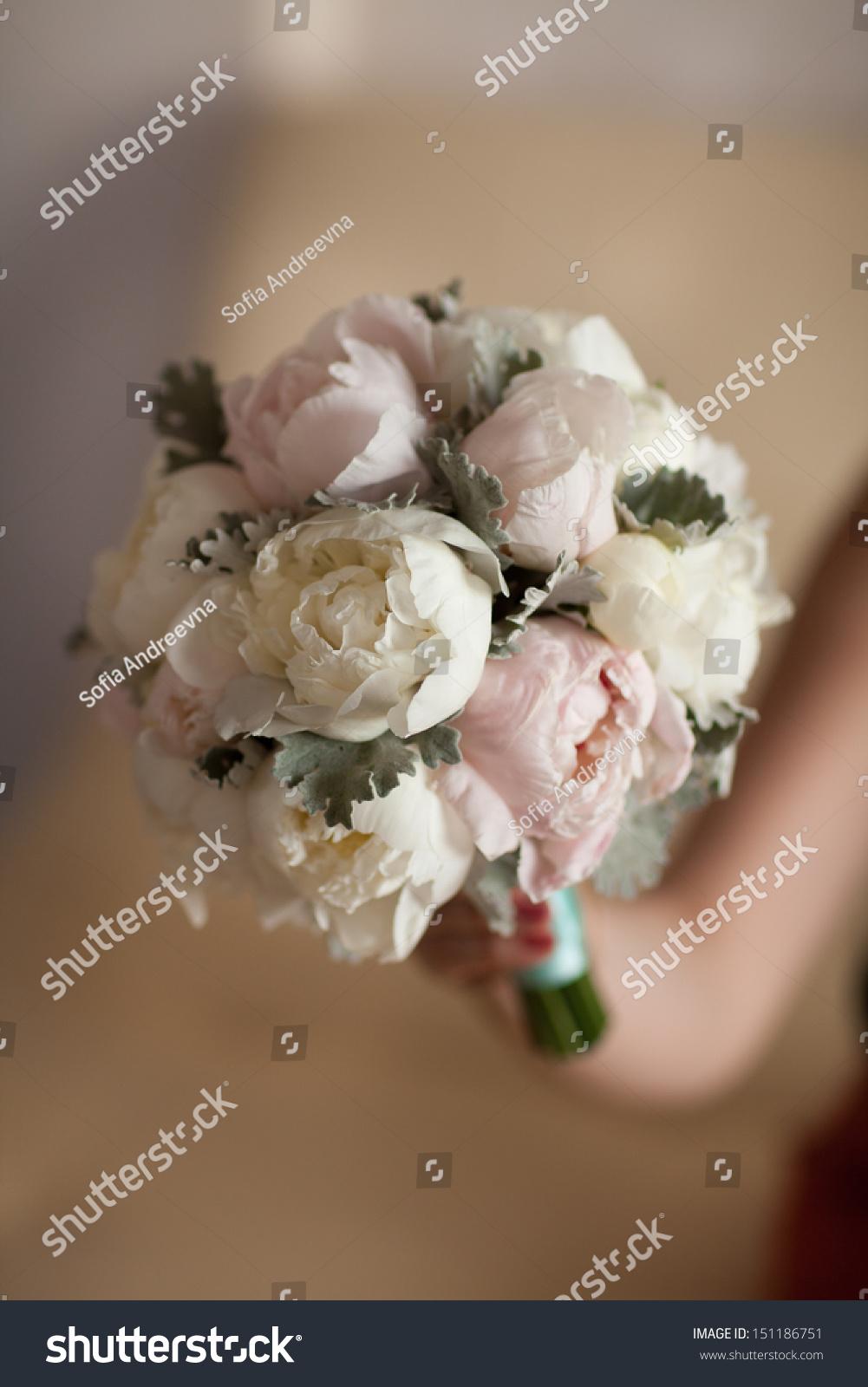 Bride Bouquet Wedding Flowers White Peony Stock Photo Edit Now