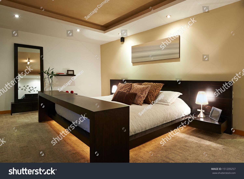 Interior design  Big modern Bedroom. Interior Design Big Modern Bedroom Stock Photo 151209257
