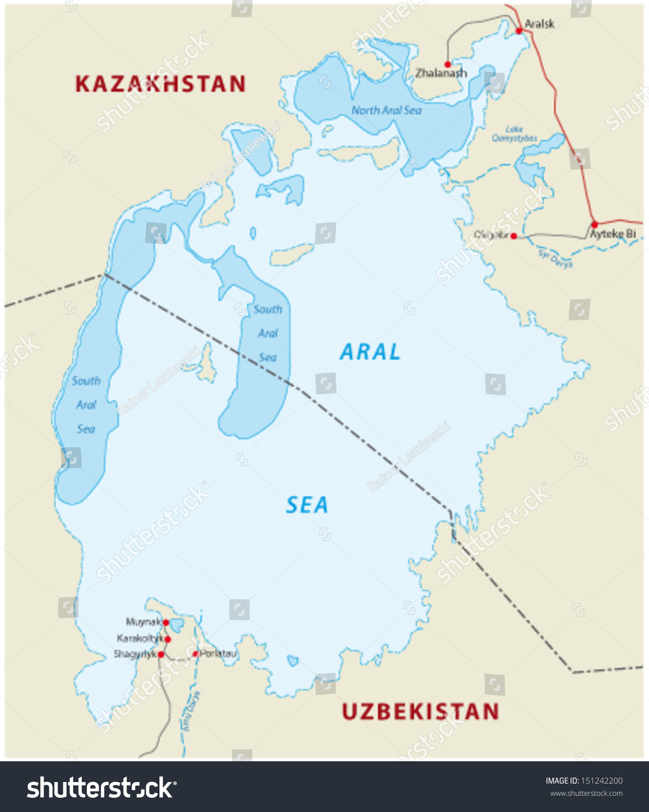 Aral Sea Map Aral Sea Map Stock Vector (Royalty Free) 151242200   Shutterstock Aral Sea Map