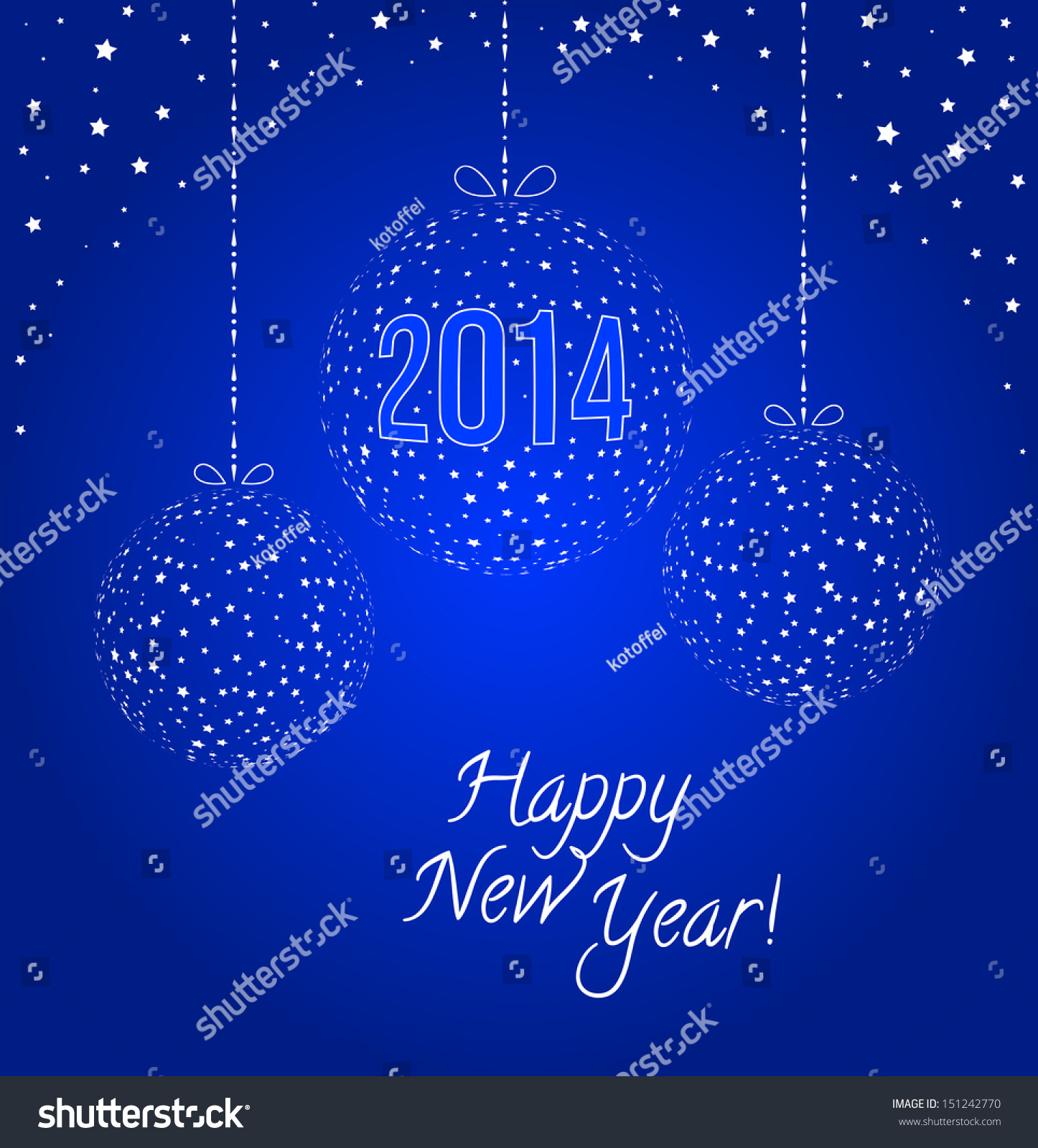 2014 New Year Greeting Card Stock Vector 151242770 Shutterstock