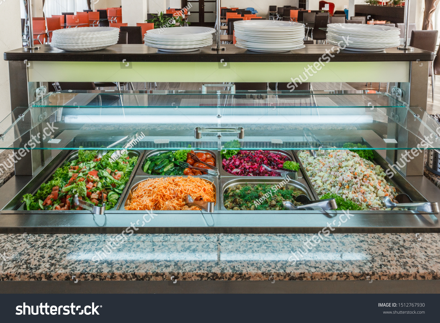 Buffet Dining Room Distribution Dishes Miscellaneous Stock Image 1512767930