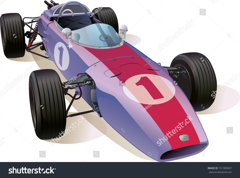 Rare Formula One Racing Car This Stock Vector (2018) 151300007 ...