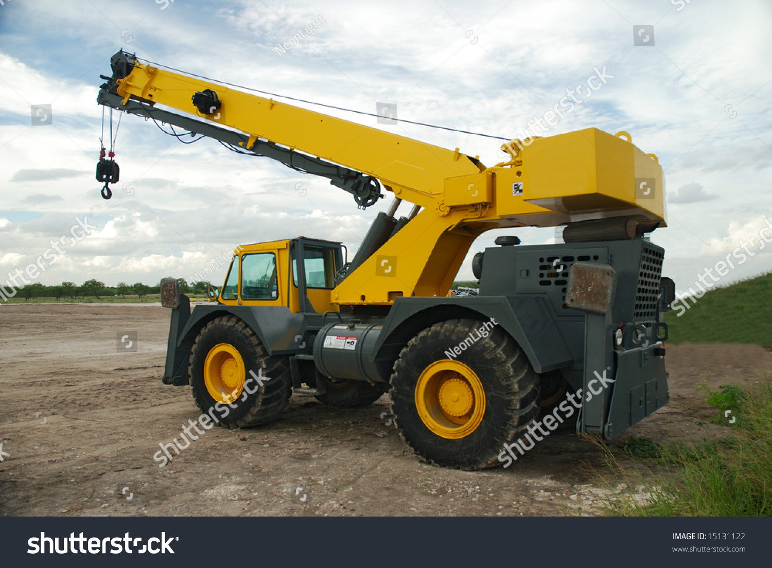 mobile crane used build gas collection stock photo. Black Bedroom Furniture Sets. Home Design Ideas