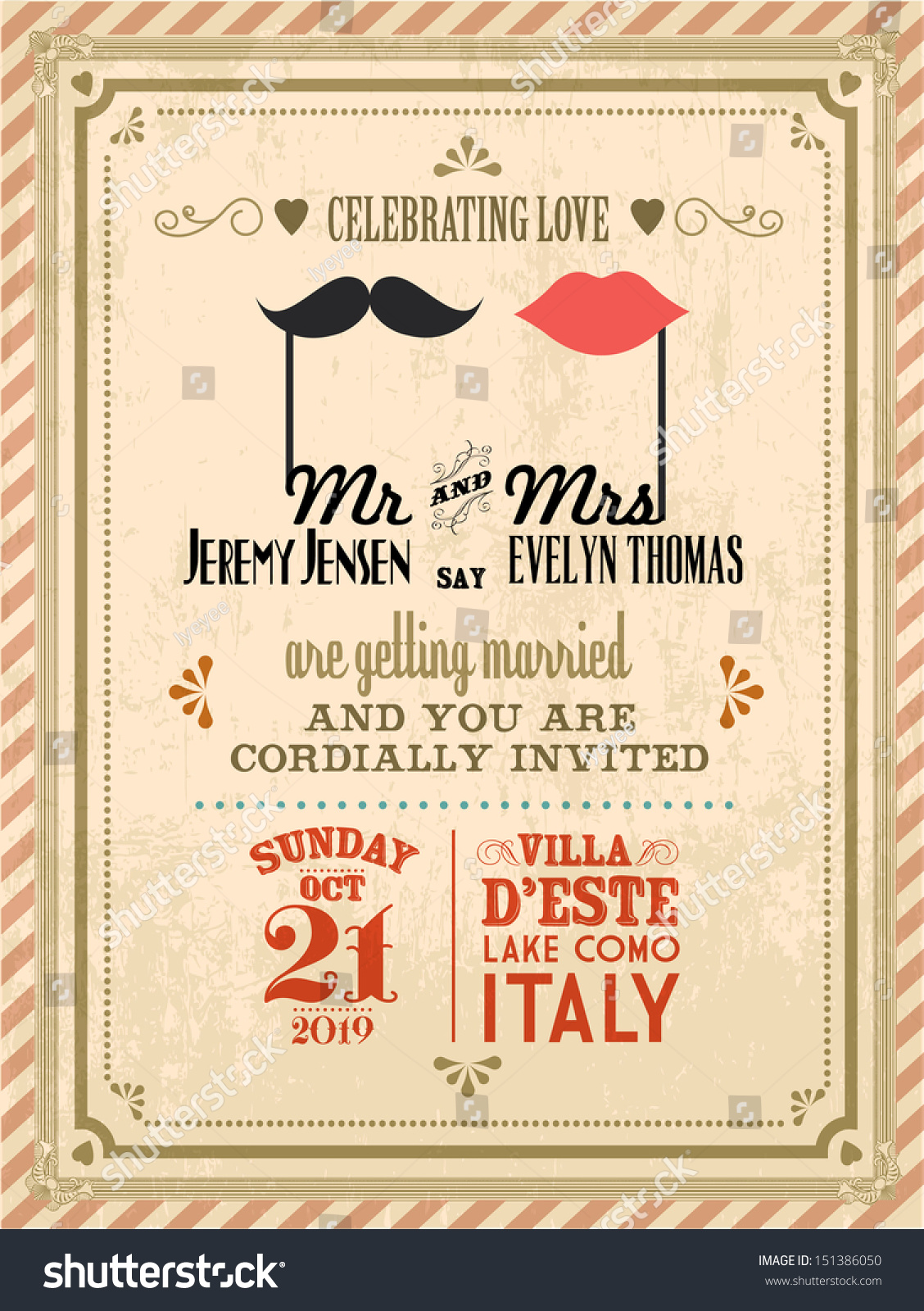 vintage wedding invitations vintage wedding invitation card template 8323