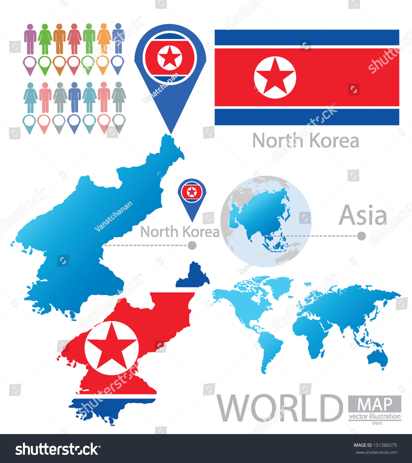Picture of: Vector De Stock Libre De Regalias Sobre Democratic Peoples Republic Korea North Korea151386575