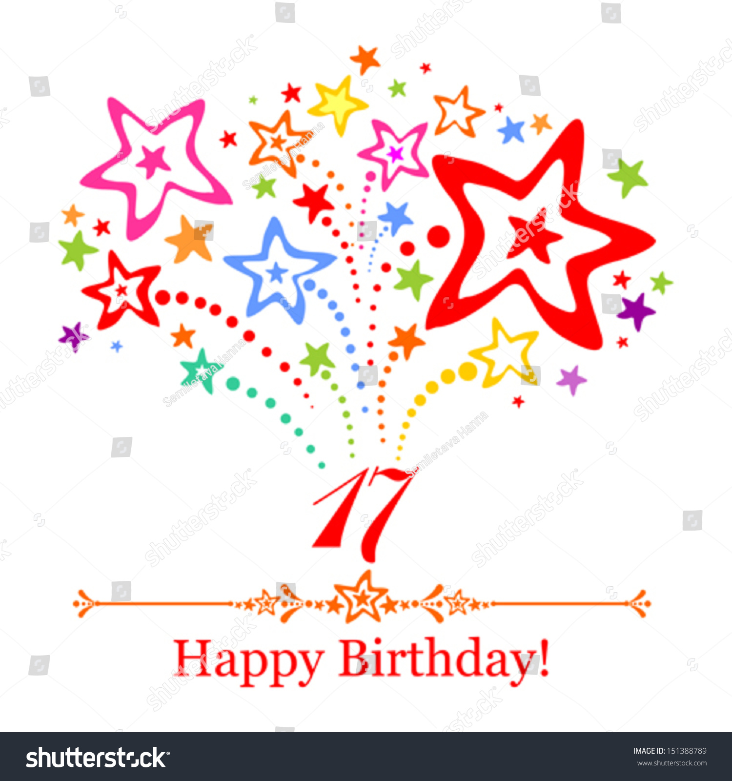 Happy Birthday Illustration Font ~ Happy birthday card celebration background number stock vector shutterstock