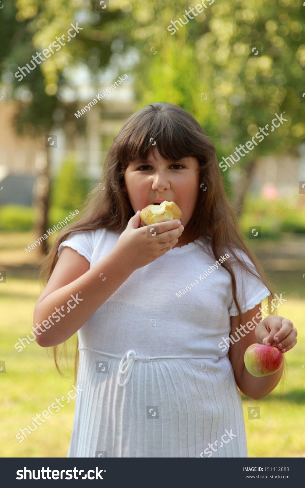 lovely fat girl sweet smile long stock photo (royalty free