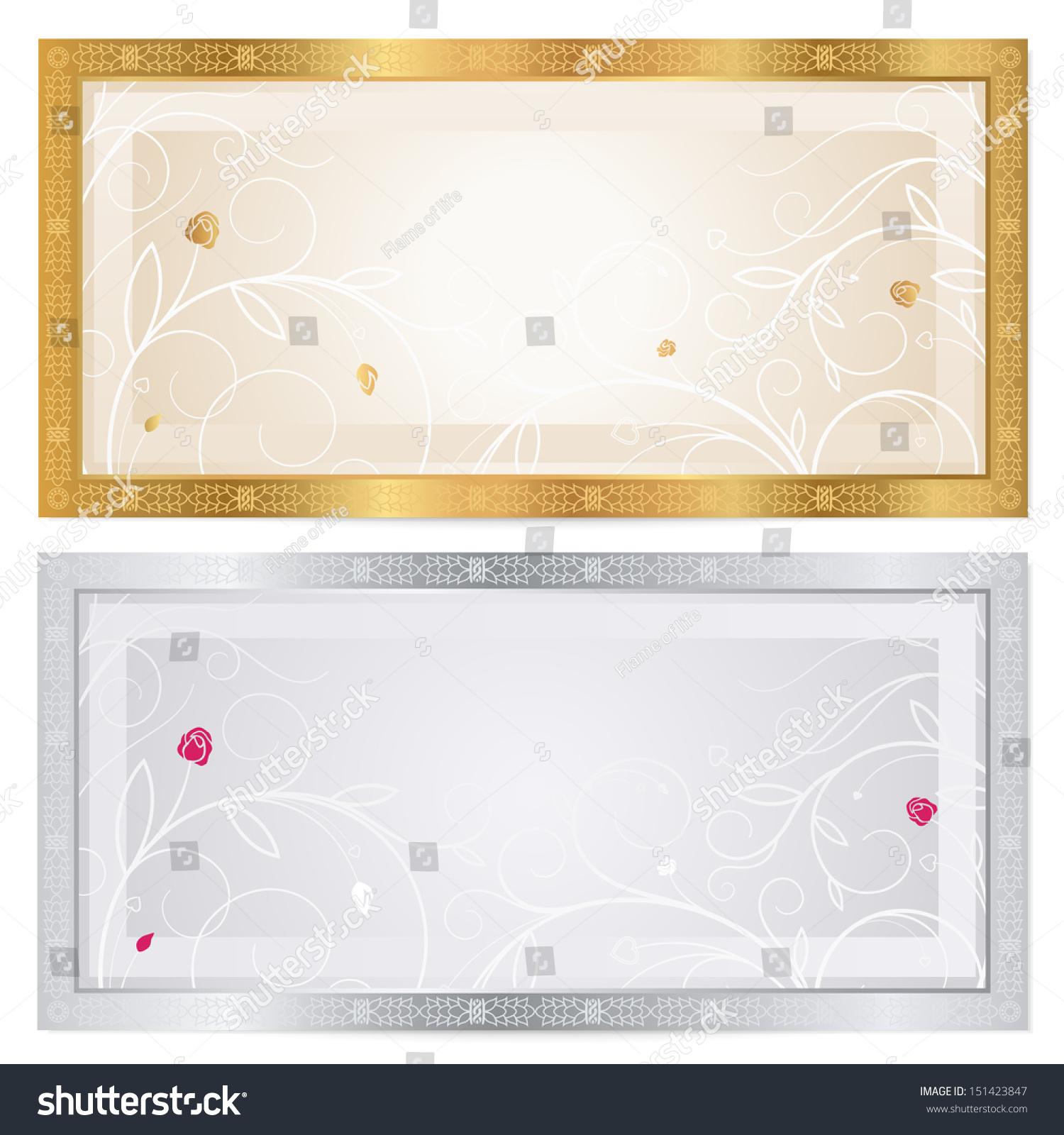 Gift Certificate Voucher Coupon Ticket Template Illustration – Ticket Voucher Template