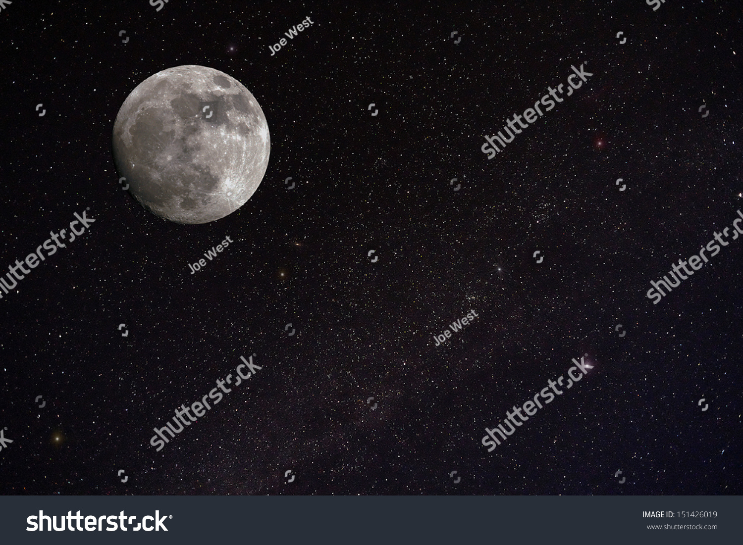 Full Moon Stars Background Stock Photo 151426019 ...