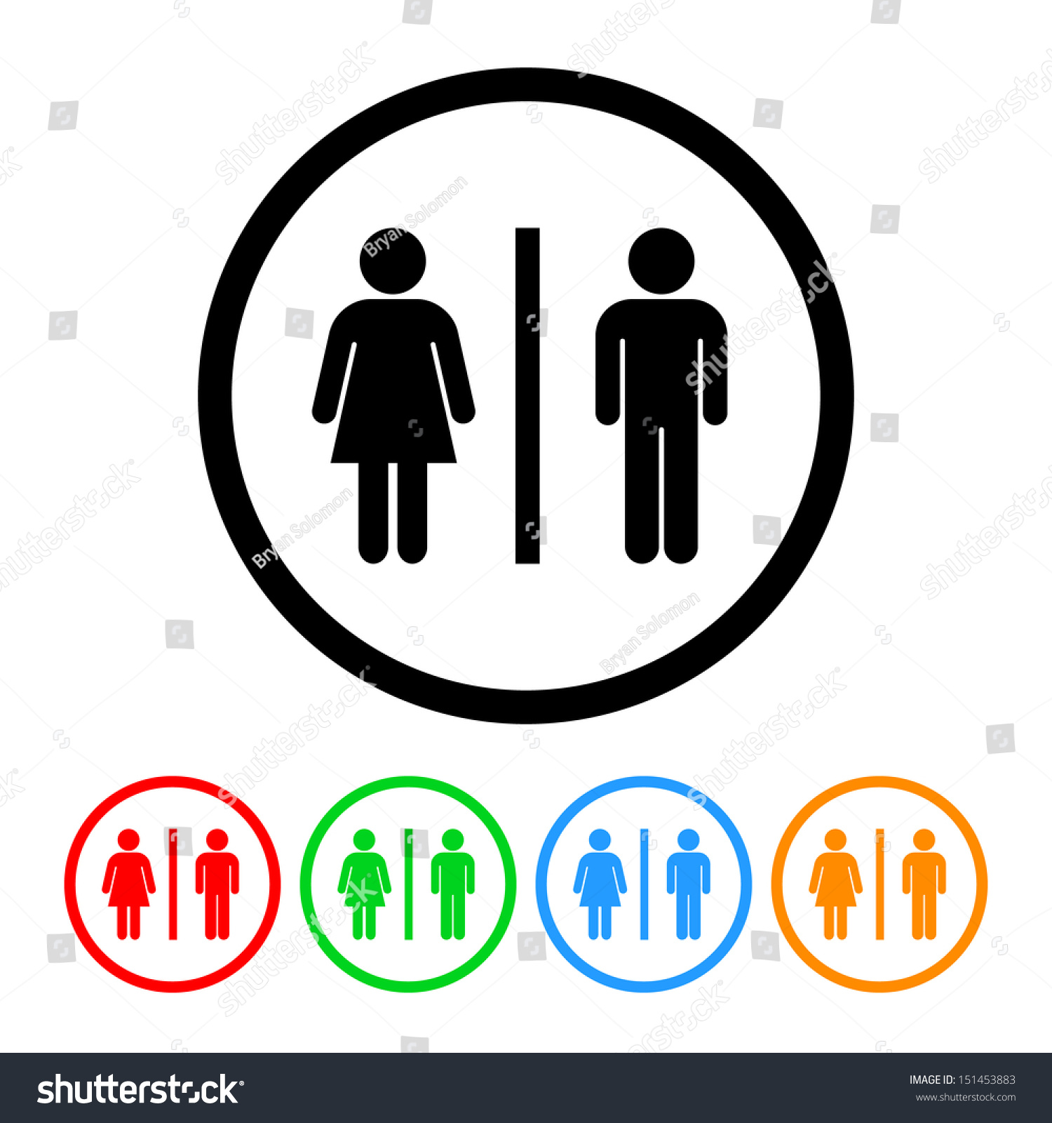 Male female bathroom sign images - Male And Female Restroom Symbol Icon
