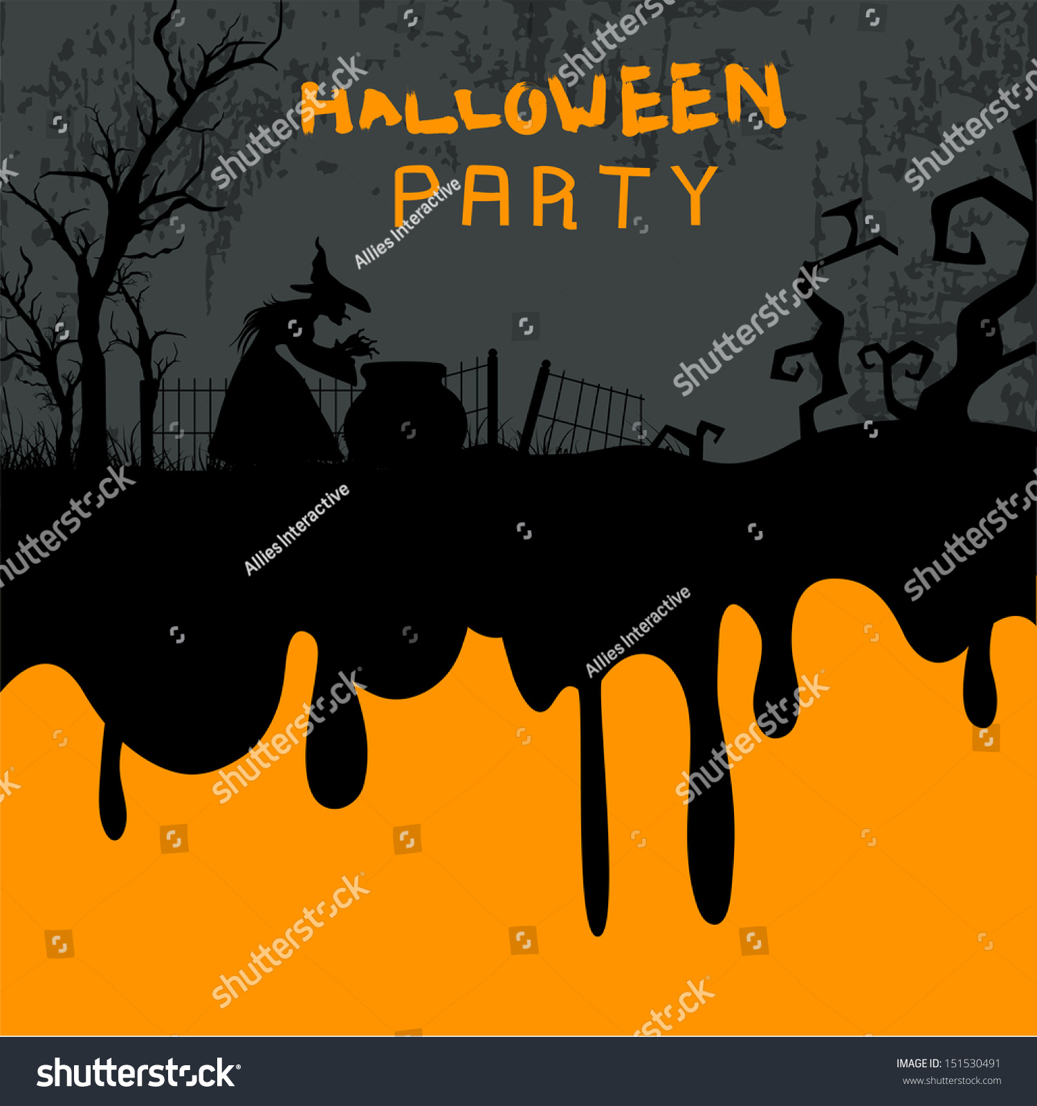 halloween party night background can be use as flyer banner or poster for night - Halloween Night Party