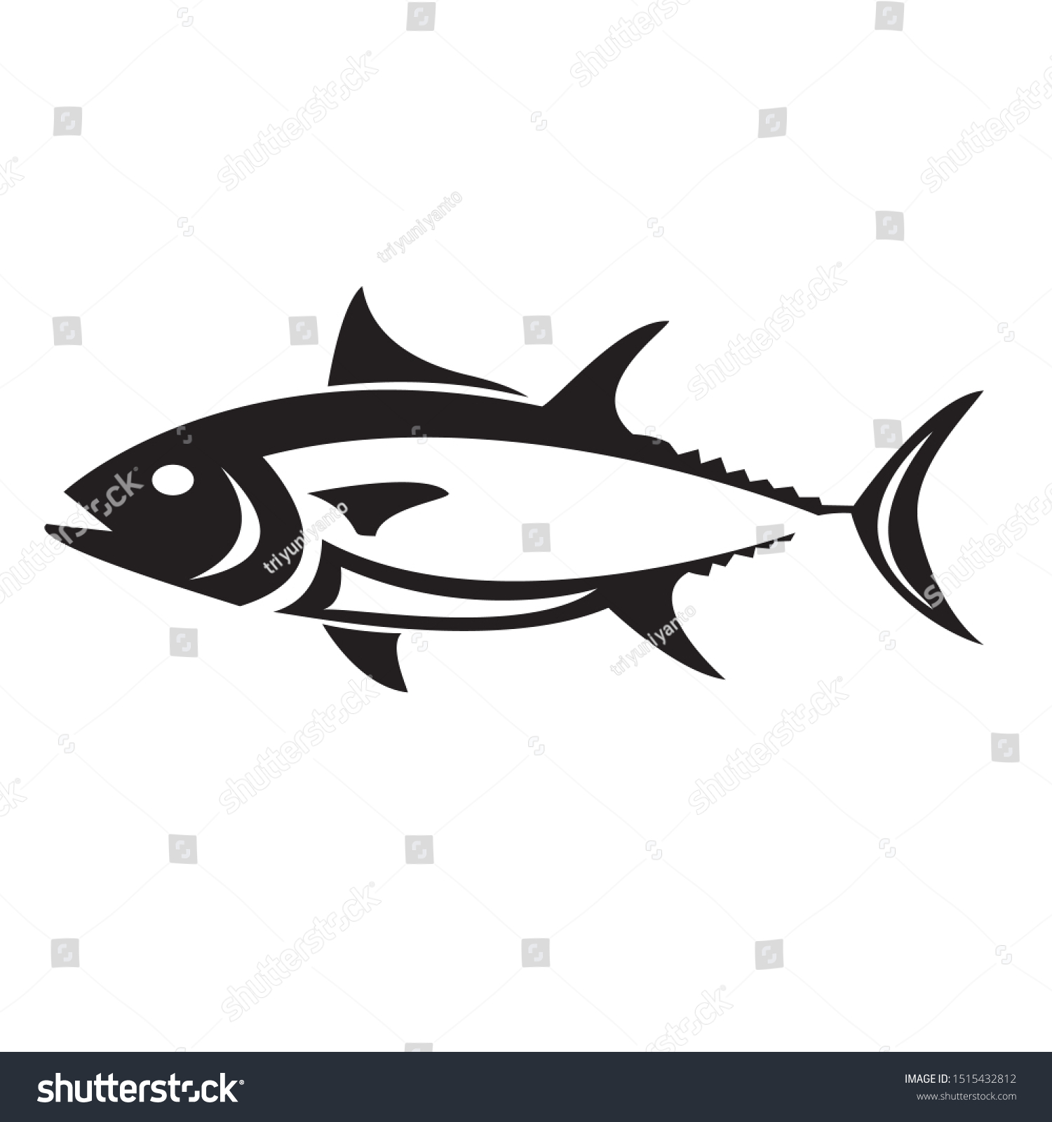 creative tuna fish vector logo stock vector royalty free 1515432812 https www shutterstock com image vector creative tuna fish vector logo 1515432812