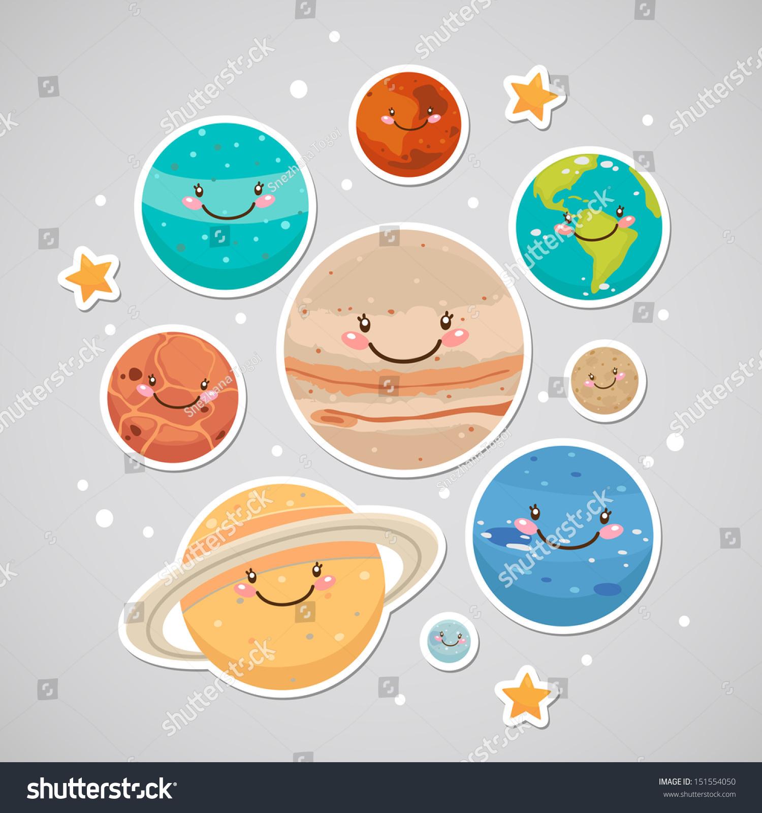 Pics For > Cute Cartoon Planets