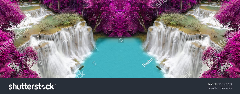 Level Four Huay Mae Khamin Waterfall Stock Photo 151561283