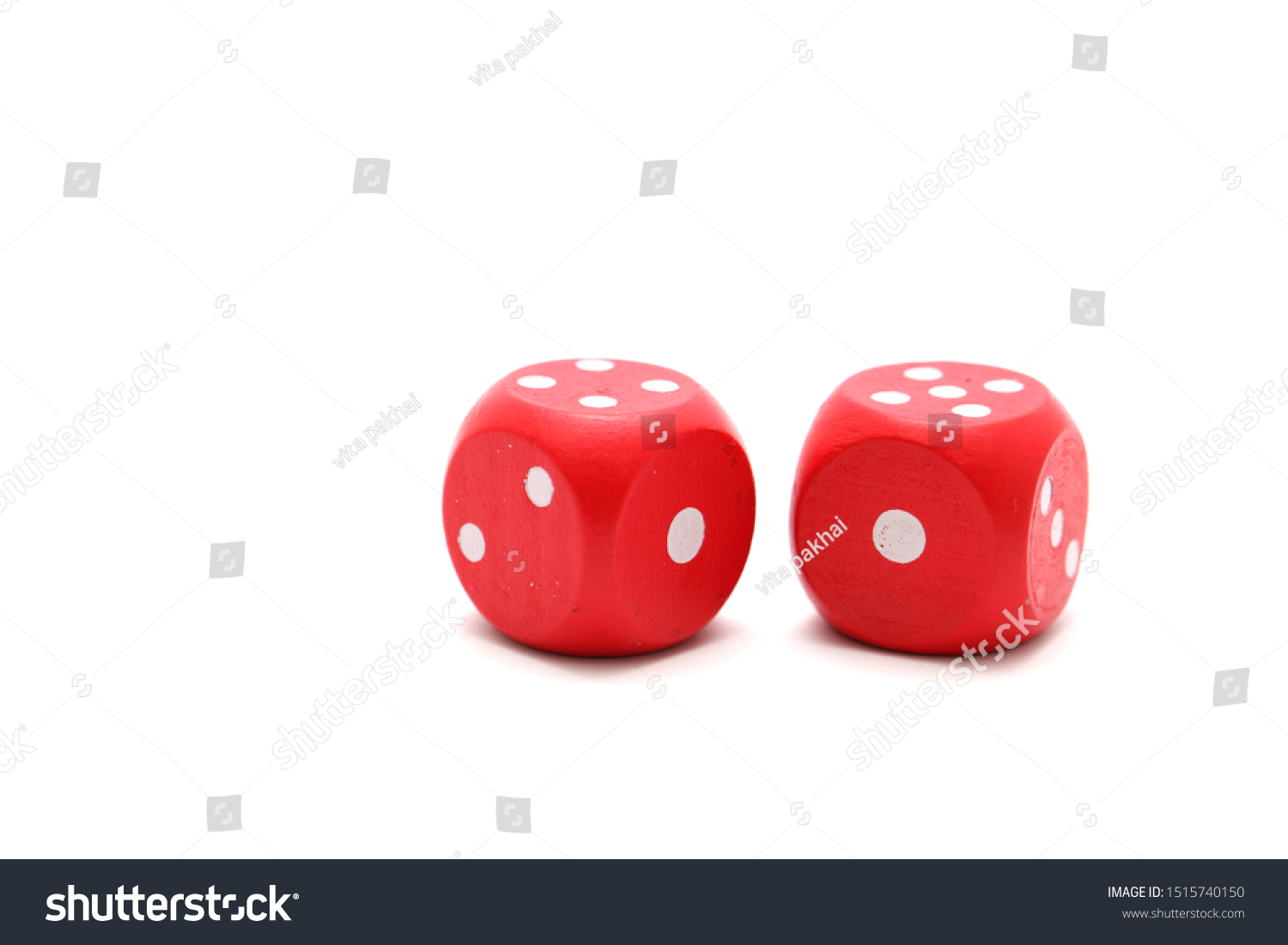 red dices on a white background #1515740150