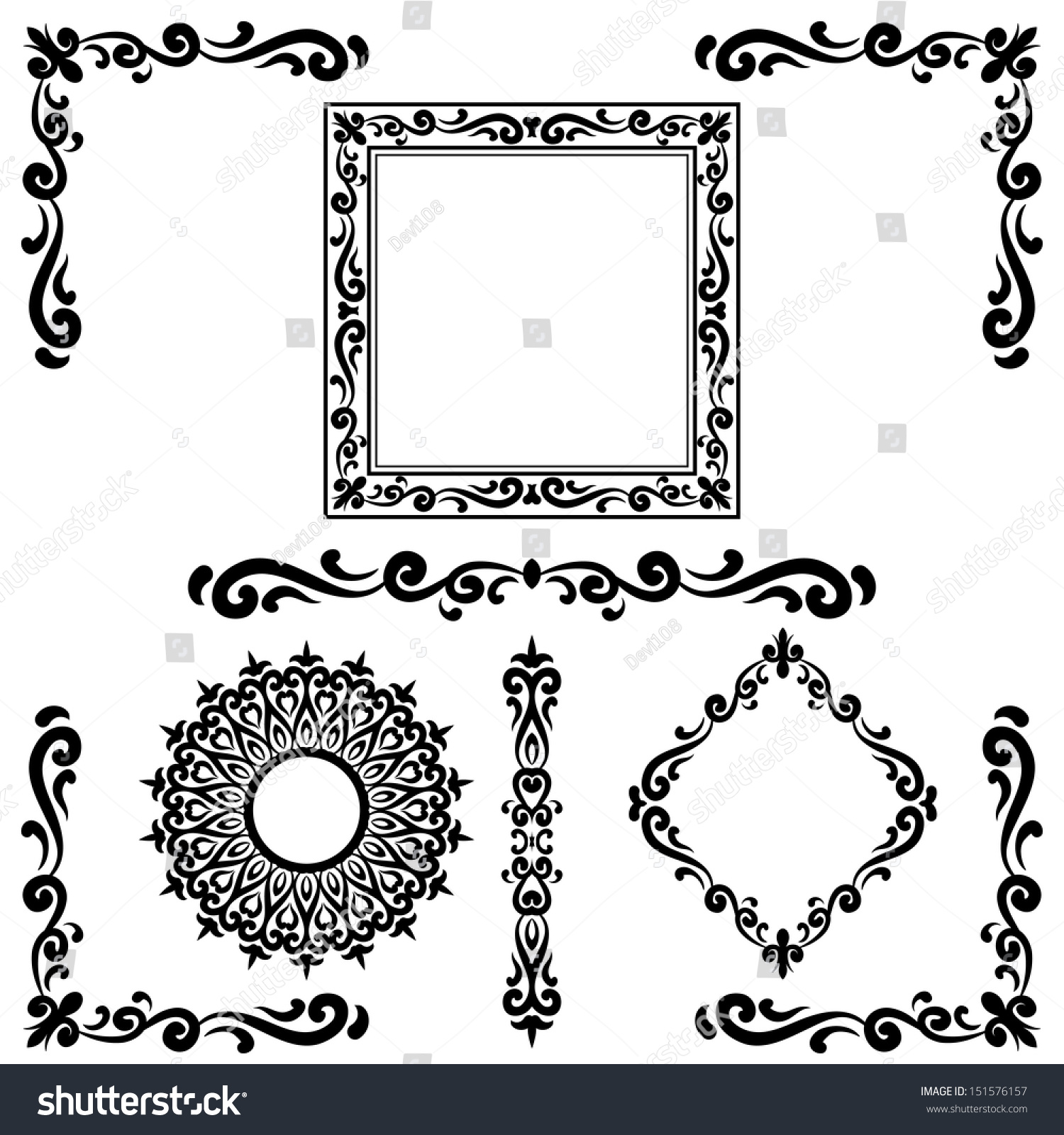Pics For Gt Calligraphy Corner Border Designs