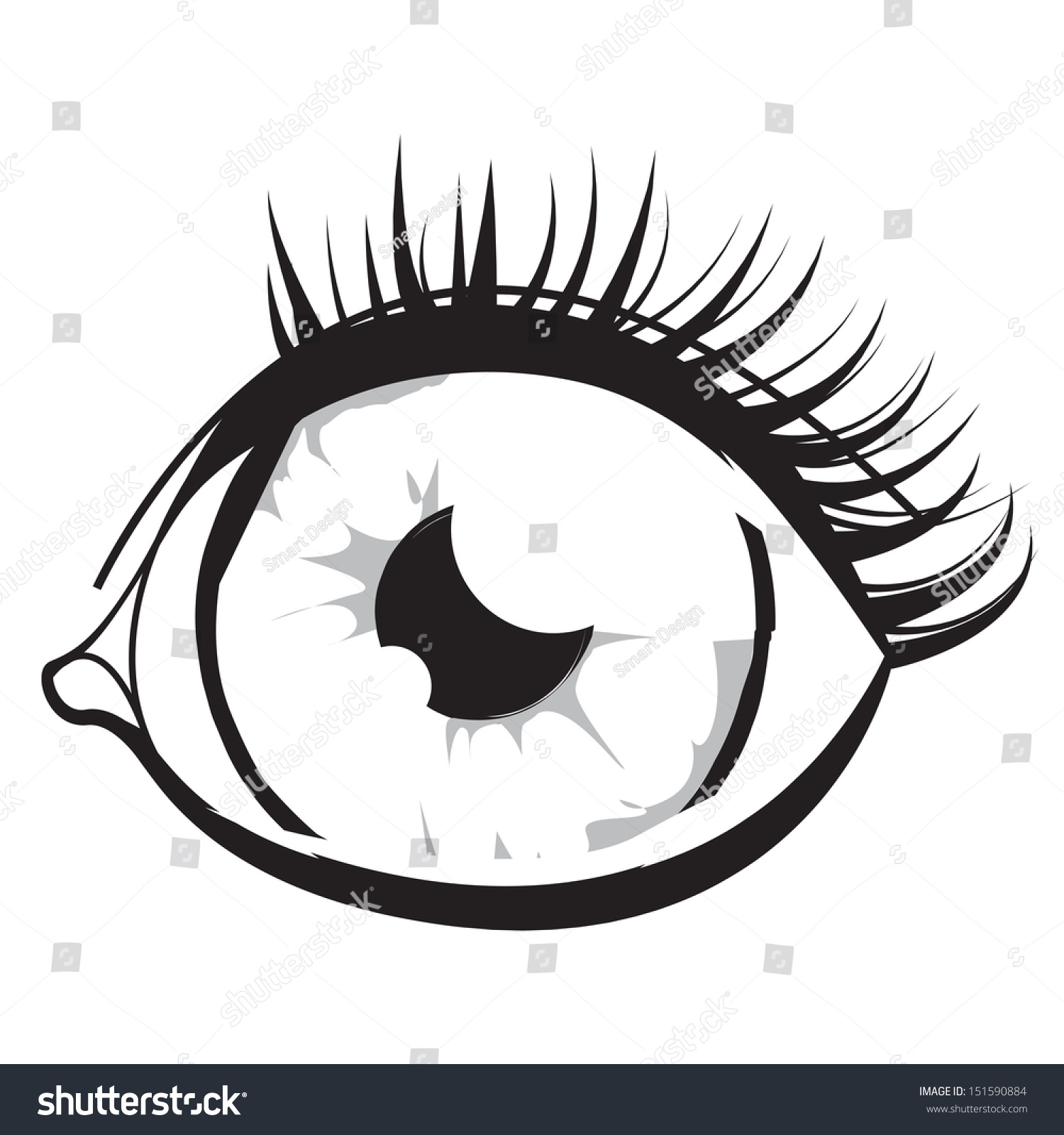 Abstract Eye Background Vector Illustration Graphic Stock ...