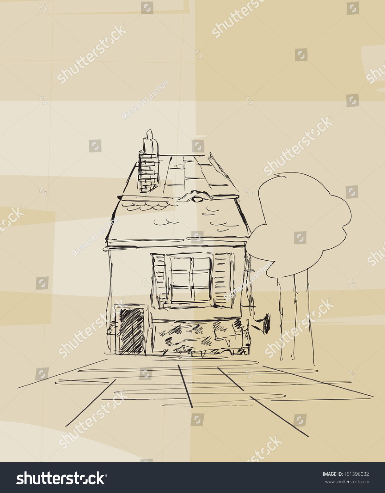 Small House Sketch Stock Photo 151596032 Shutterstock