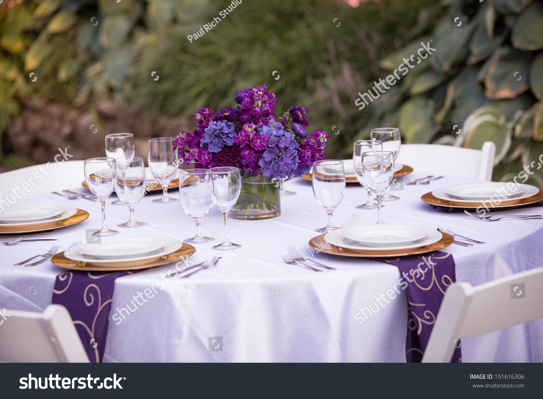 Table Setting Wedding Reception Stock Photo Royalty Free 151616306