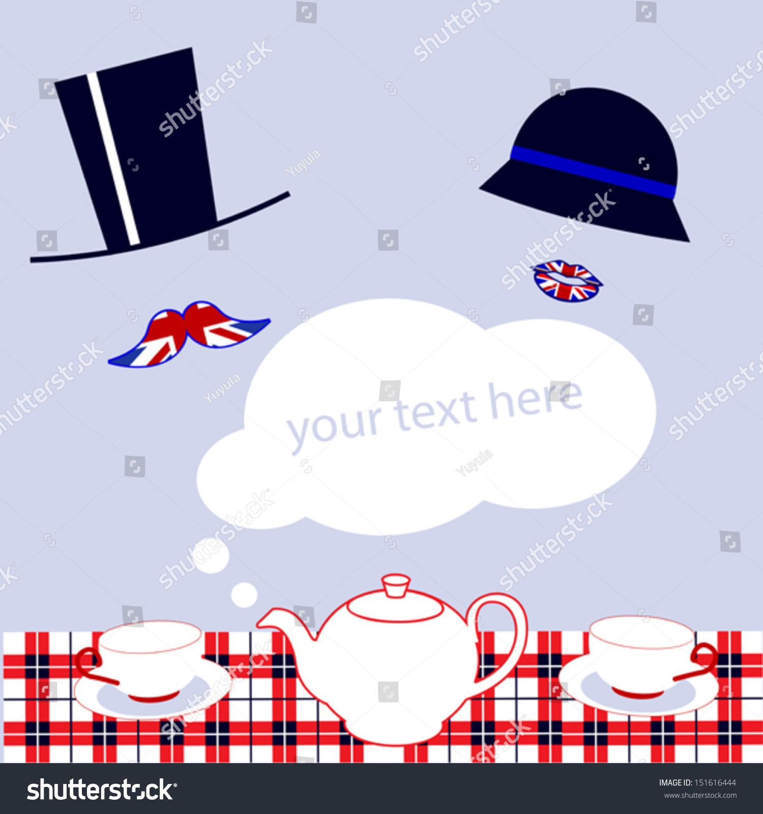 English Tea Party Invitation Stock Vector HD (Royalty Free ...