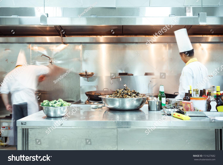 Chef Restaurant Kitchen Stove Pan Doing Stock Photo (Edit Now ...