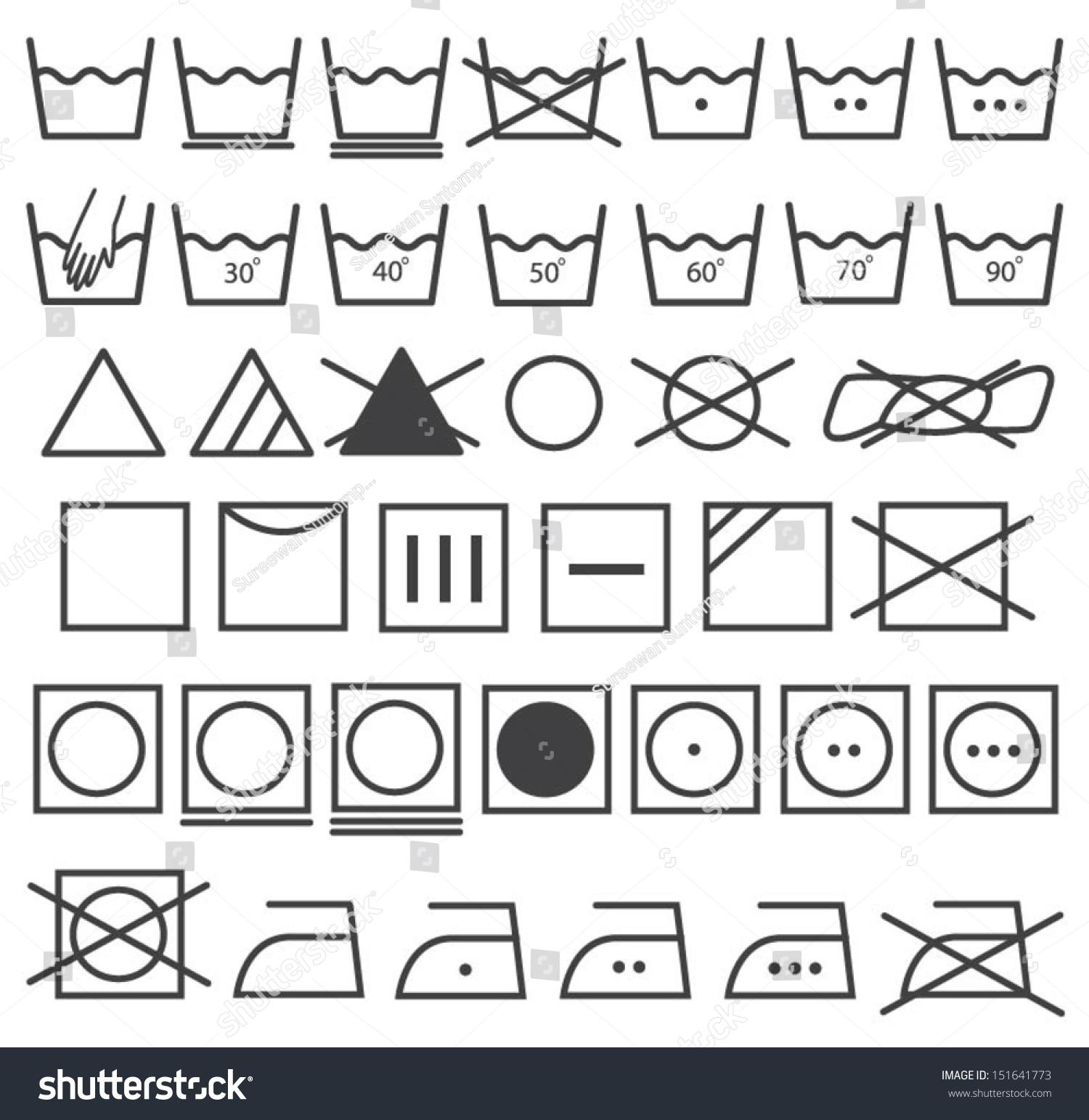 Laundry icons vector set washing symbol stock vector 151641773 laundry icons vector set washing symbol buycottarizona Gallery