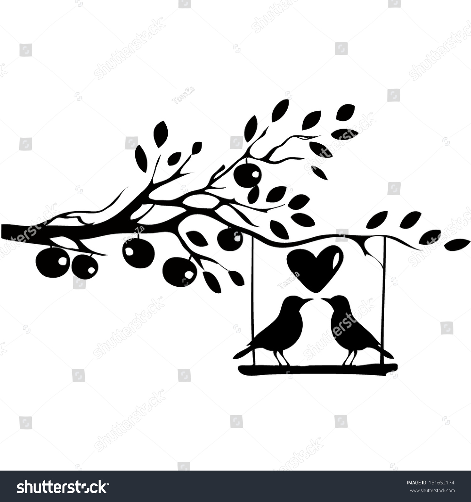 Love bird silhouette