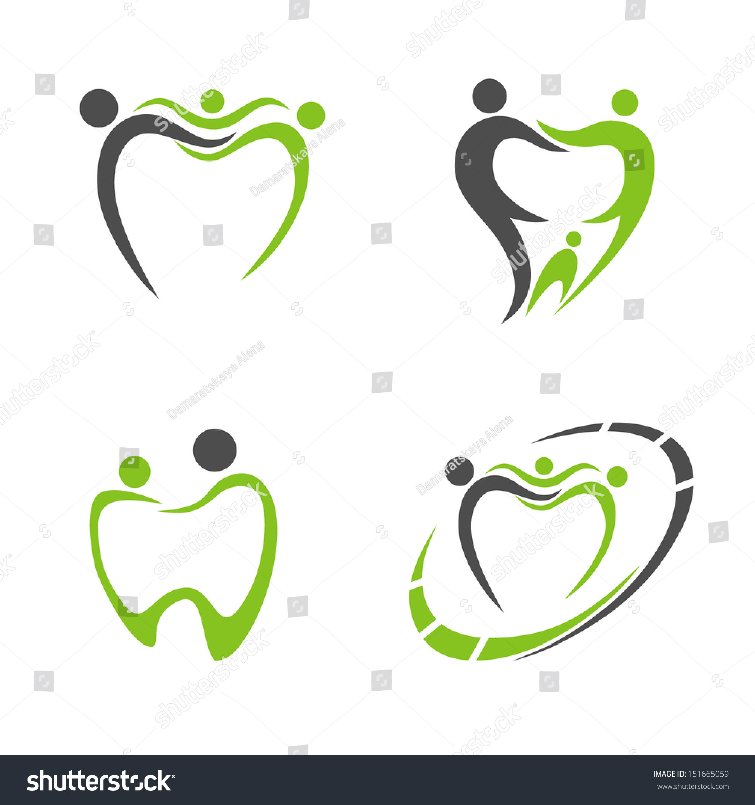 Abstract Vector Illustration Teeth Dental Logo Stock Vector ...