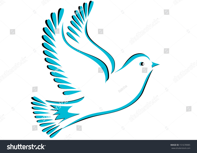 Dove Bird Stylized Peace Symbol Stock Vector Royalty Free