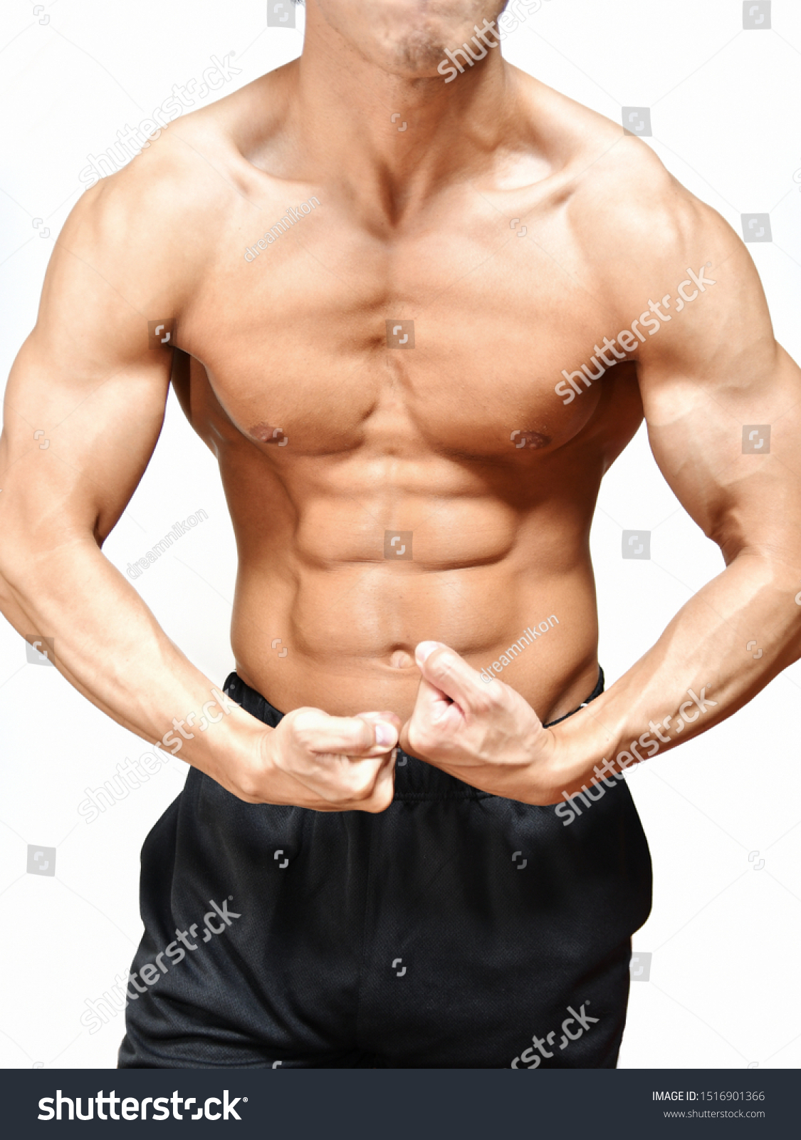 Youth Body Trained Body Building Stock Photo Edit Now 1516901366
