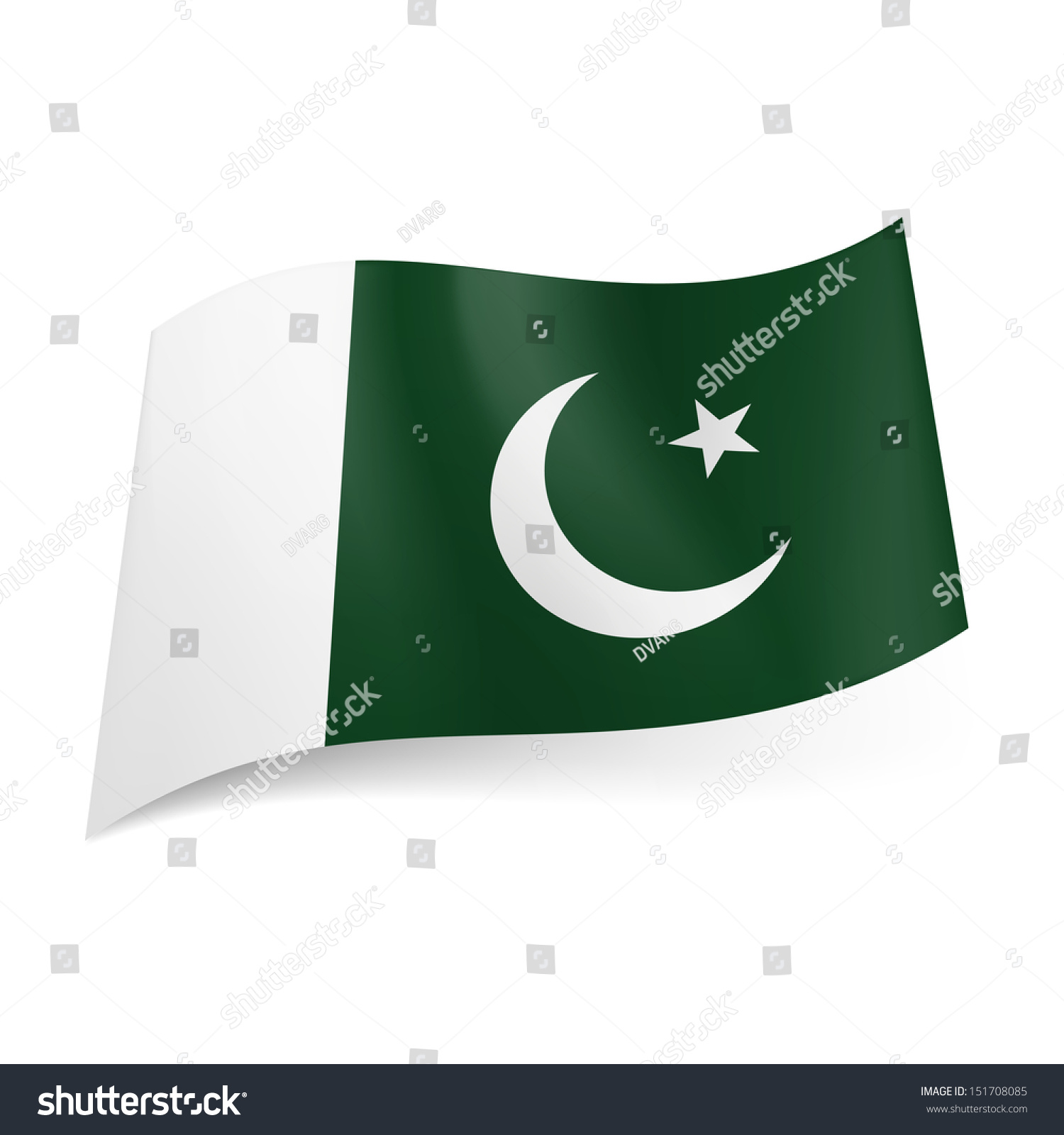National flag pakistan crescent moon star stock vector 151708085 national flag of pakistan crescent moon and star on green background with white vertical stripe biocorpaavc Choice Image