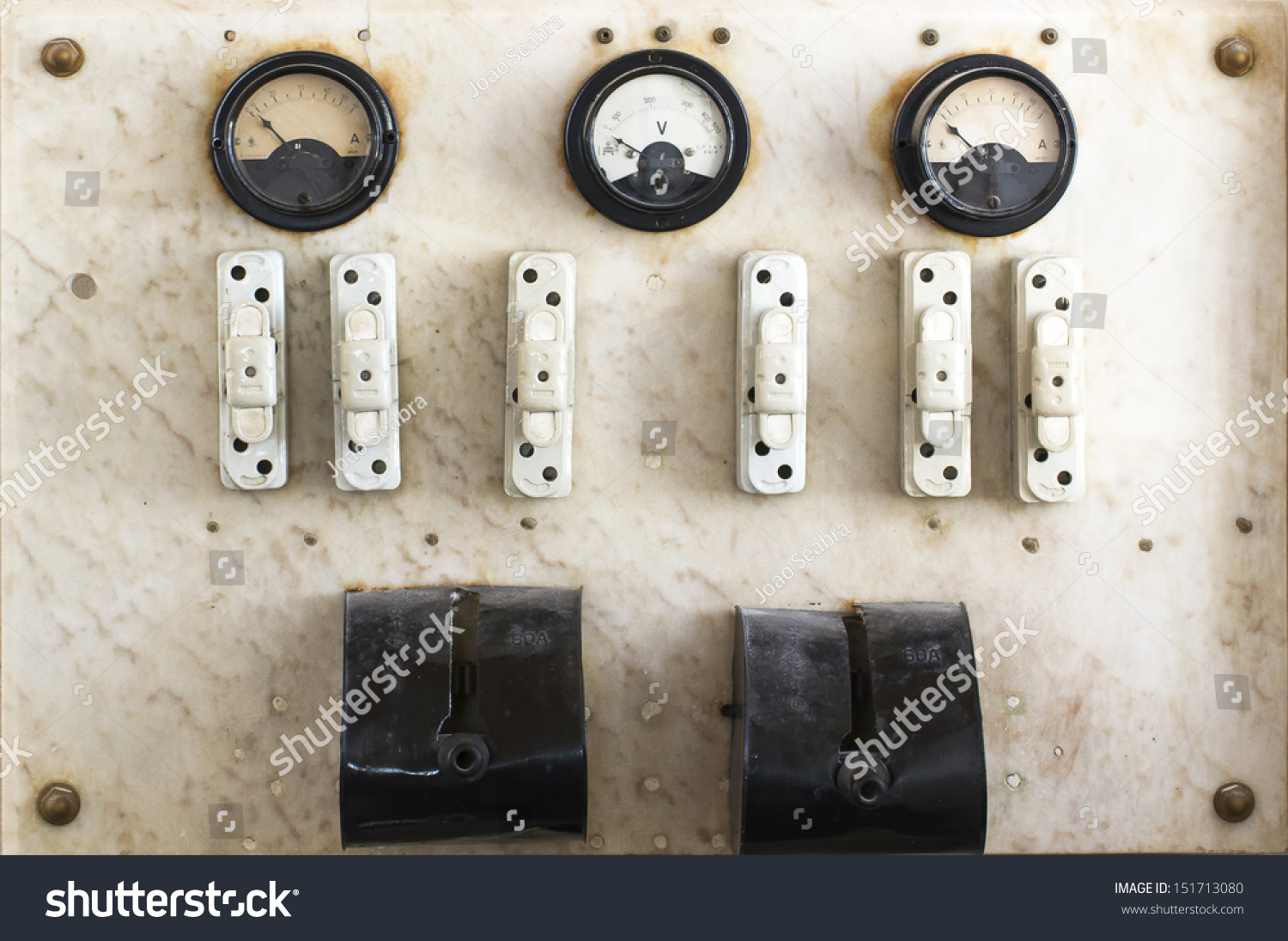 Vintage Fuse Box Switch Stock Photo Edit Now 151713080 Shutterstock And