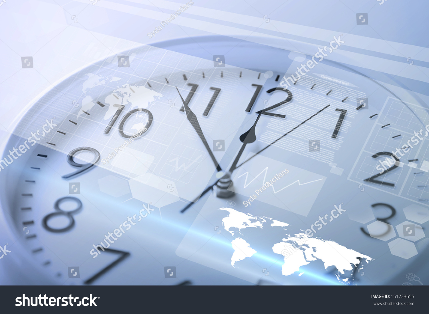 Time Management And Technology: Future Technology Time Management Concept Clock Stock