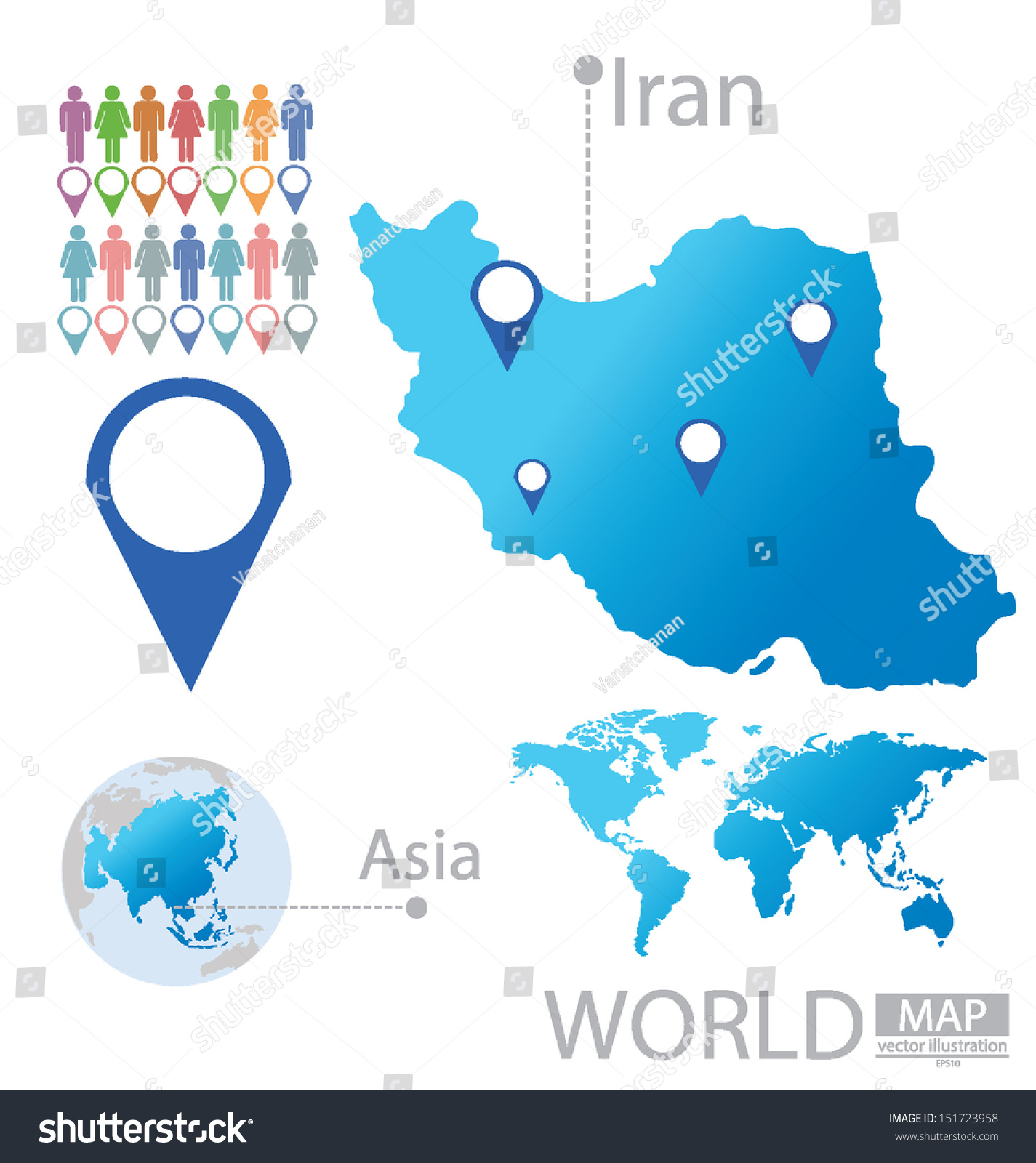 Iran asia world map vector illustration stock vector 151723958 iran asia world map vector illustration stock vector 151723958 shutterstock gumiabroncs Images