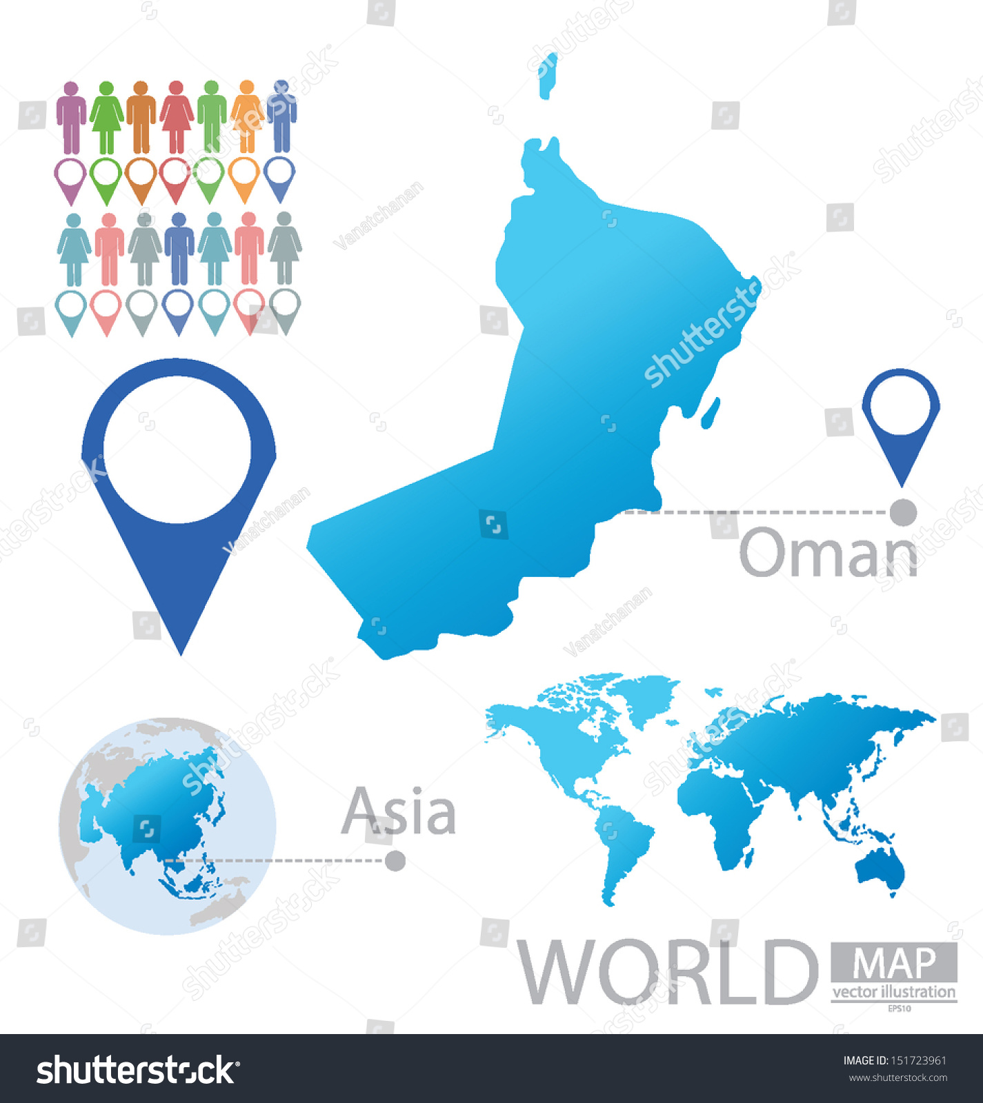 Sultanate oman asia world map vector stock vector royalty free sultanate of oman asia world map vector illustration gumiabroncs Gallery