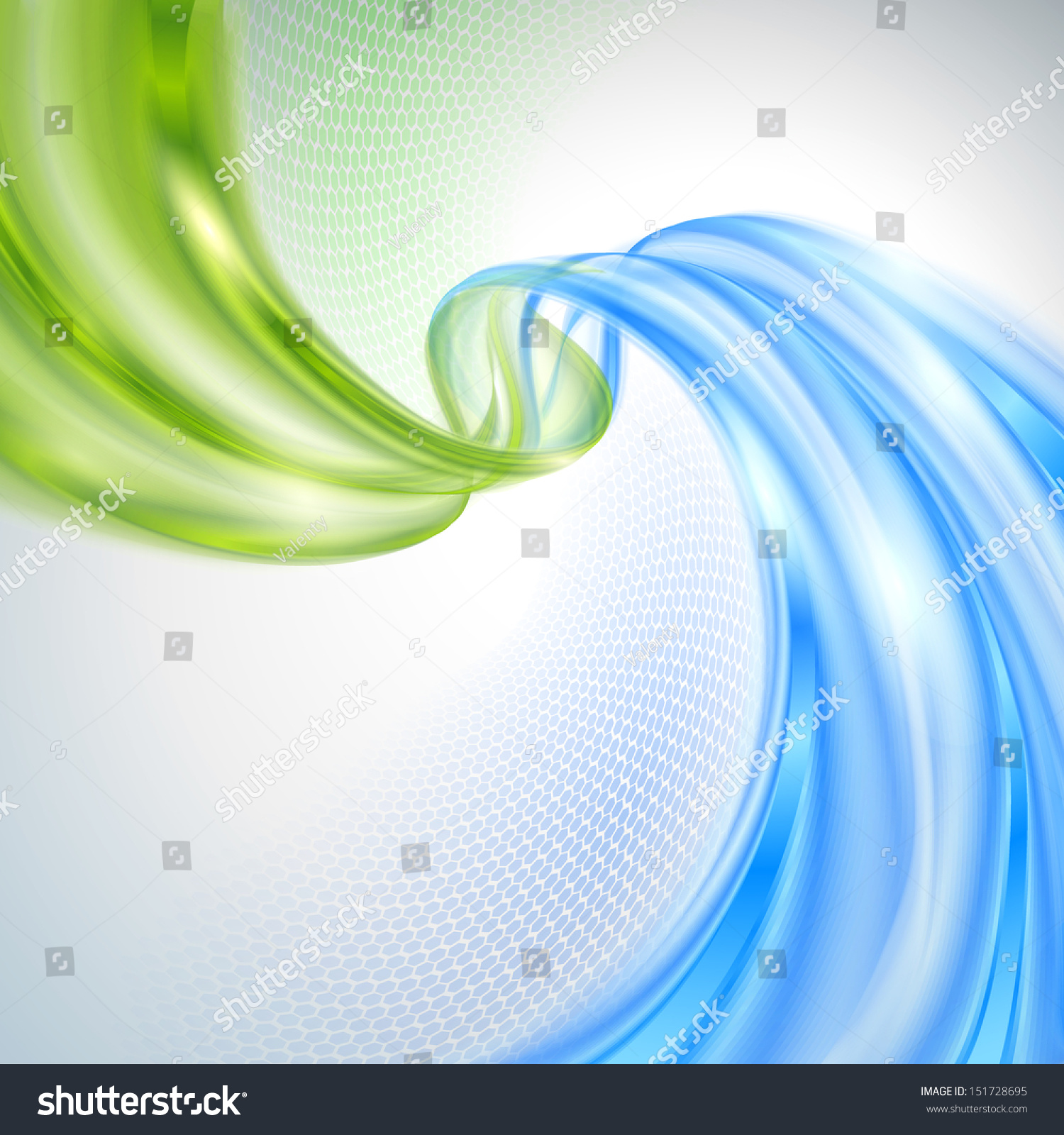 Abstract Green And Blue Wave Background Stock Vector ...