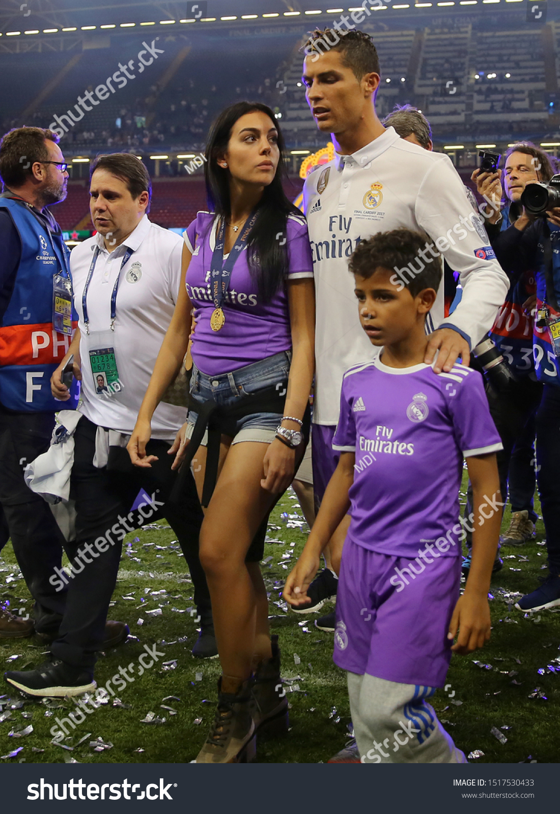 Cristiano Ronaldo Real Madrid Girlfriend Georgina Stock Photo Edit Now 1517530433