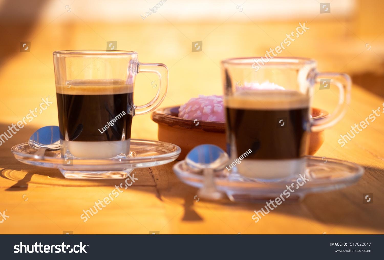Closeup View Couple Traditional Spanish Coffee Stock Photo Edit ...