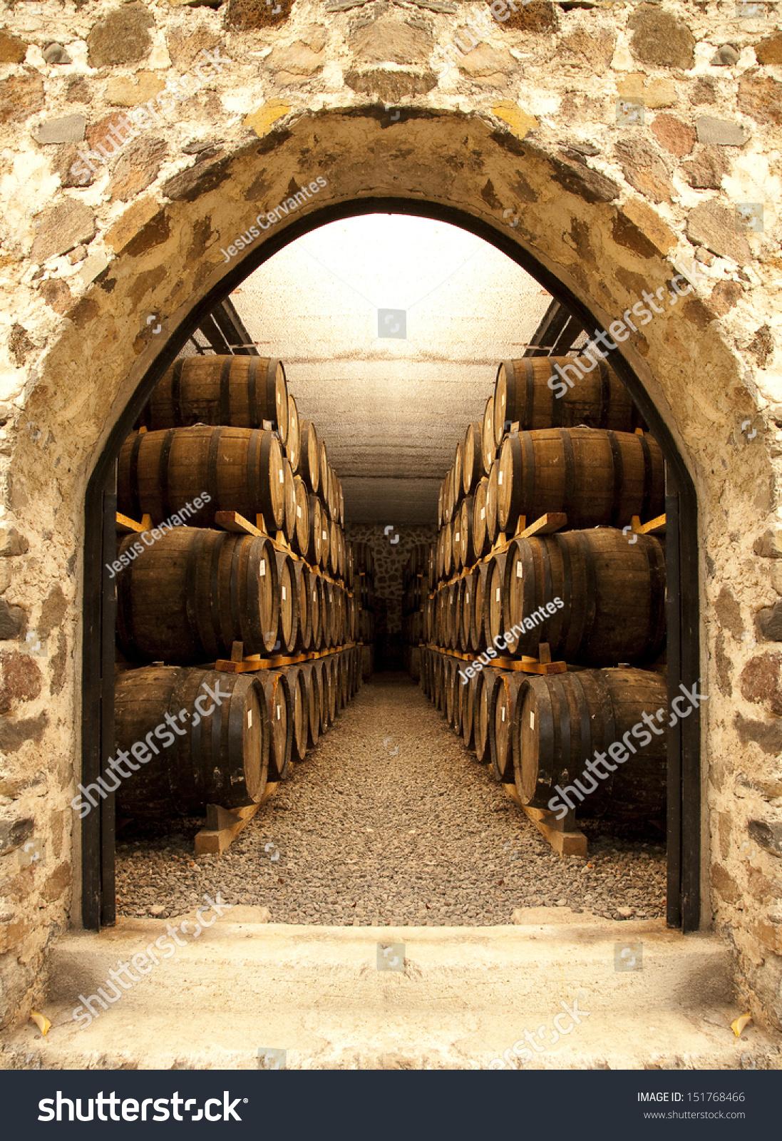Barrels in a hungarian wine cellar - Custom Wallpaper   Barrel Wine Cellar