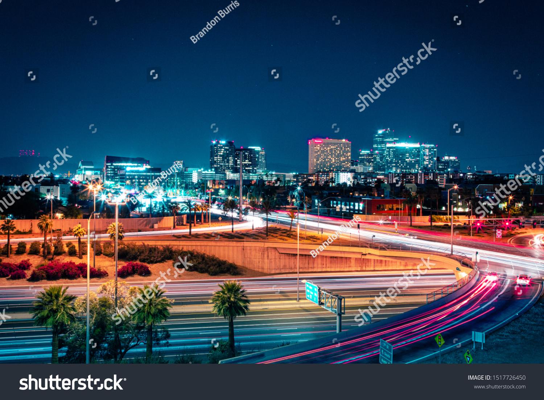 Downtown Phoenix, Arizona at Night #1517726450
