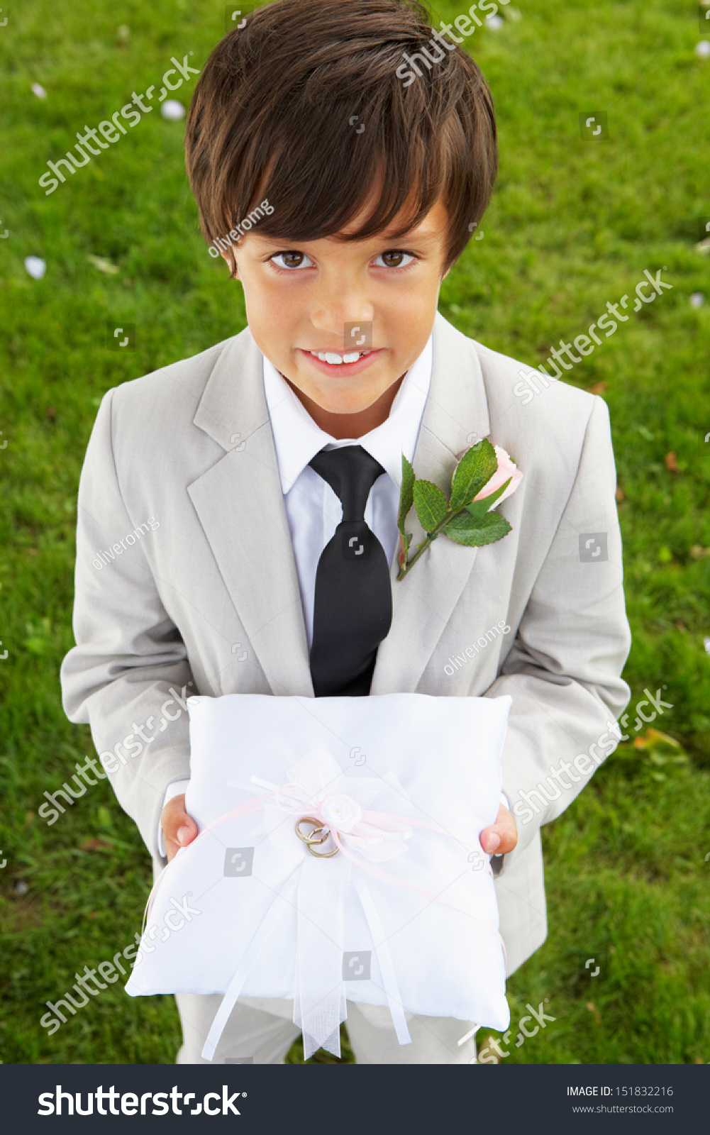 Page Boy Carrying Wedding Ring On Stock Photo 151832216 Shutterstock